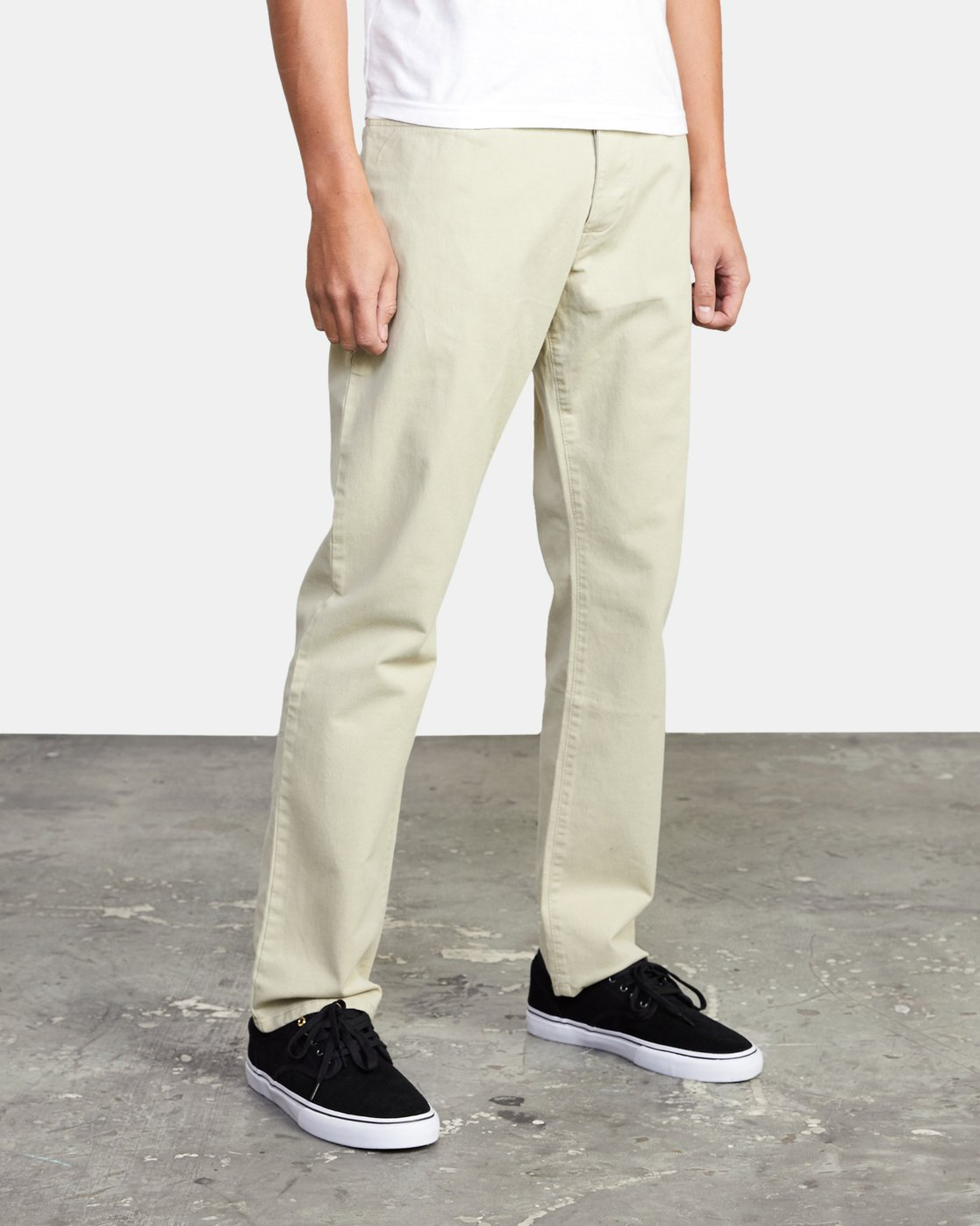 7 week-end TWILL STRAIGHT FIT PANT Beige M3483RWT RVCA