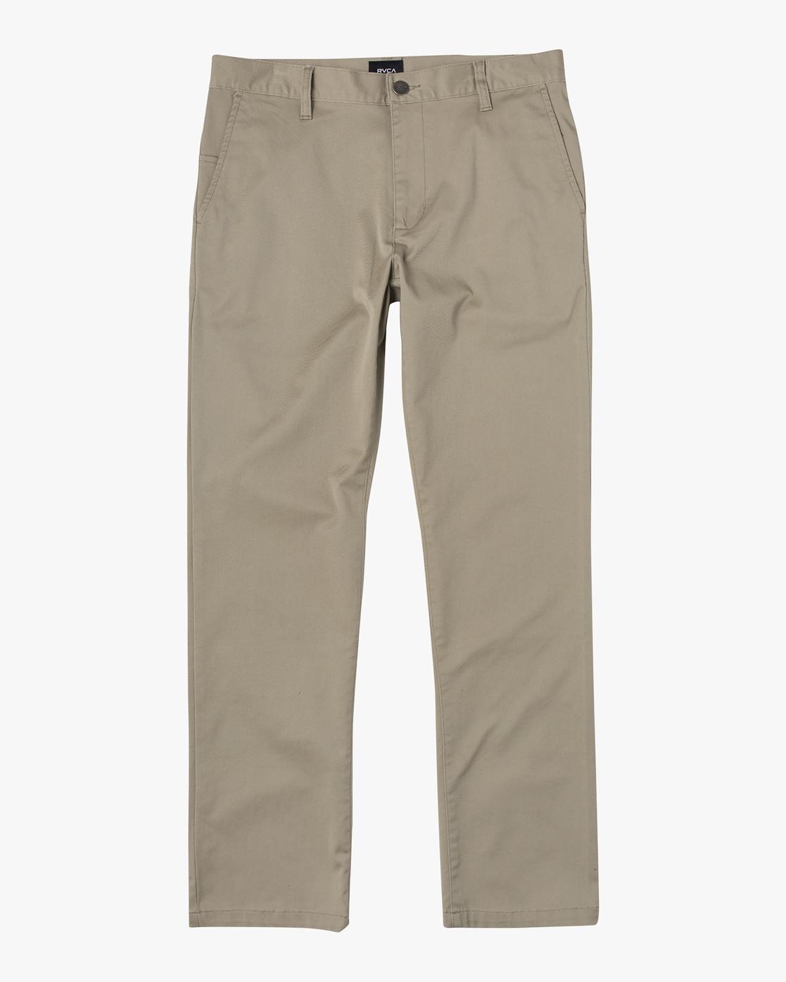0 week-end Stretch straight fit Pant Beige M3493RWS RVCA