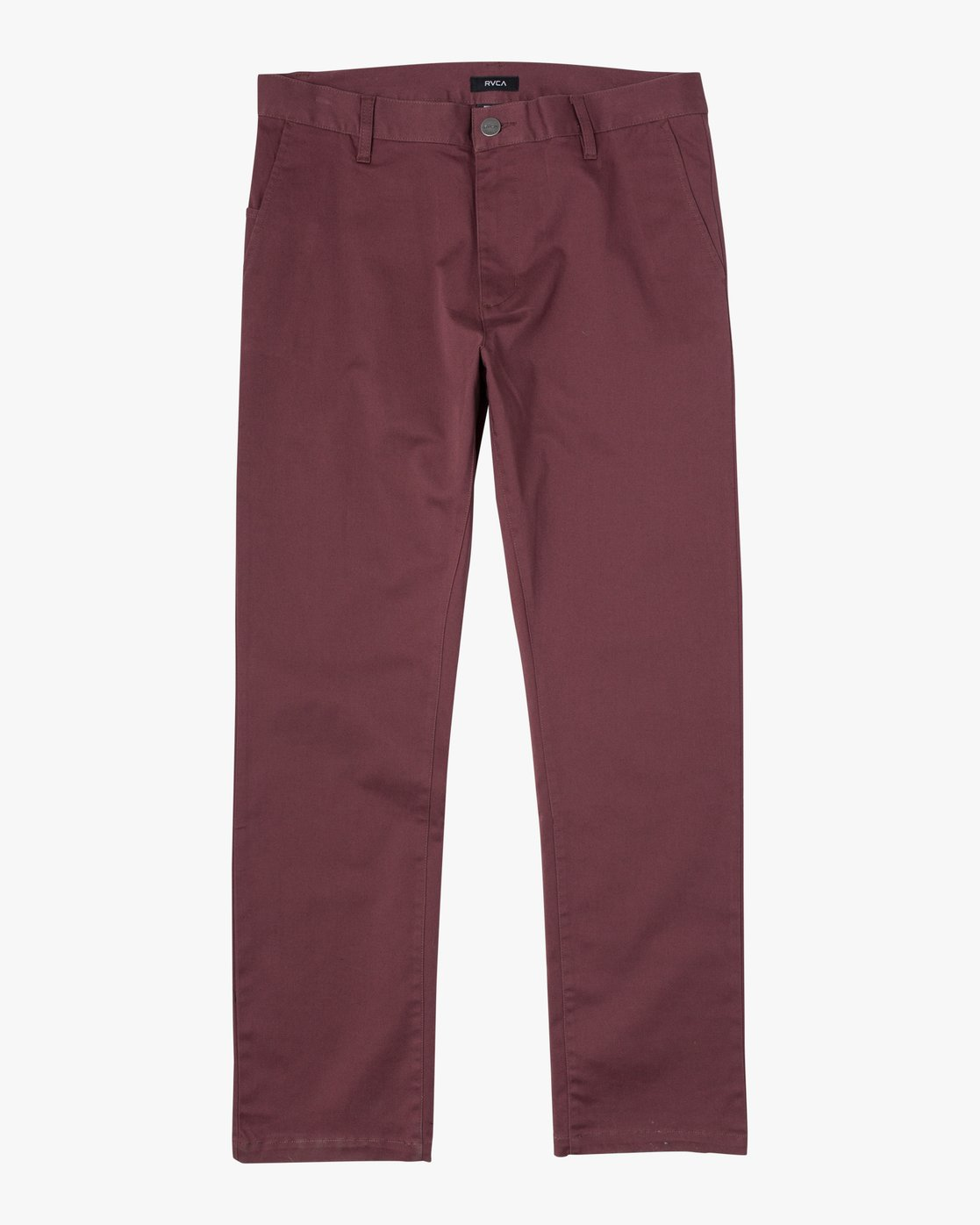 9 week-end Stretch straight fit Pant Red M3493RWS RVCA