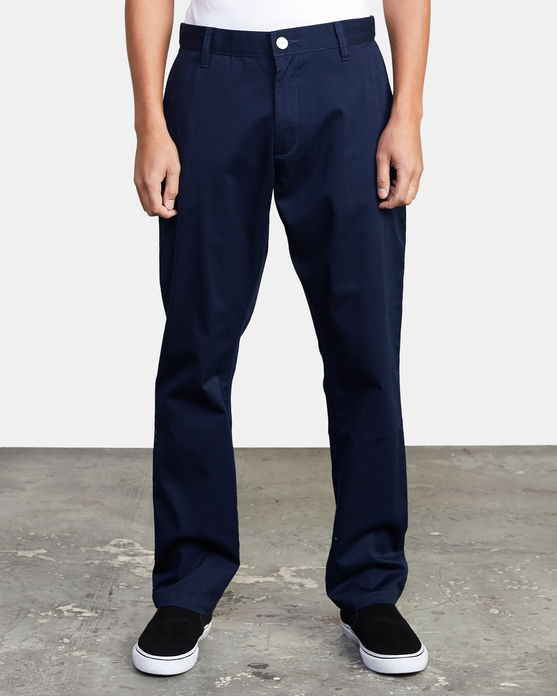 0 week-end Stretch straight fit Pant Blue M3493RWS RVCA
