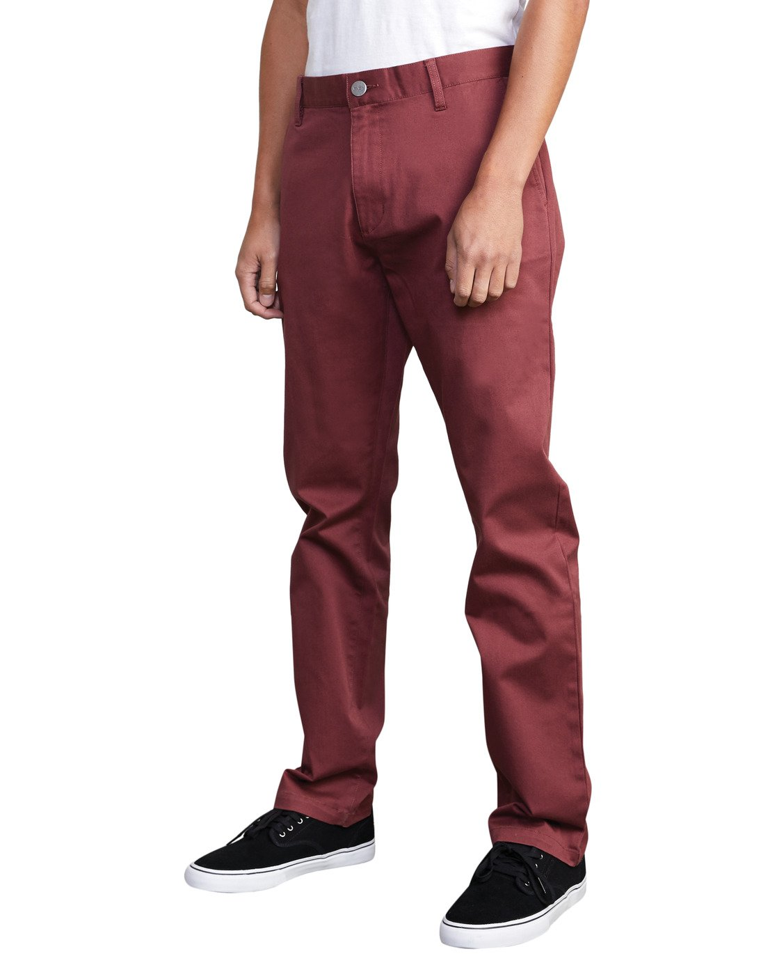 0 week-end Stretch straight fit Pant Red M3493RWS RVCA