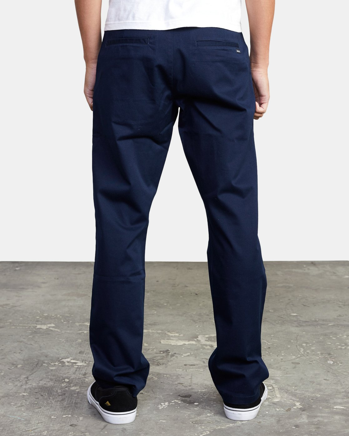 3 week-end Stretch straight fit Pant Blue M3493RWS RVCA