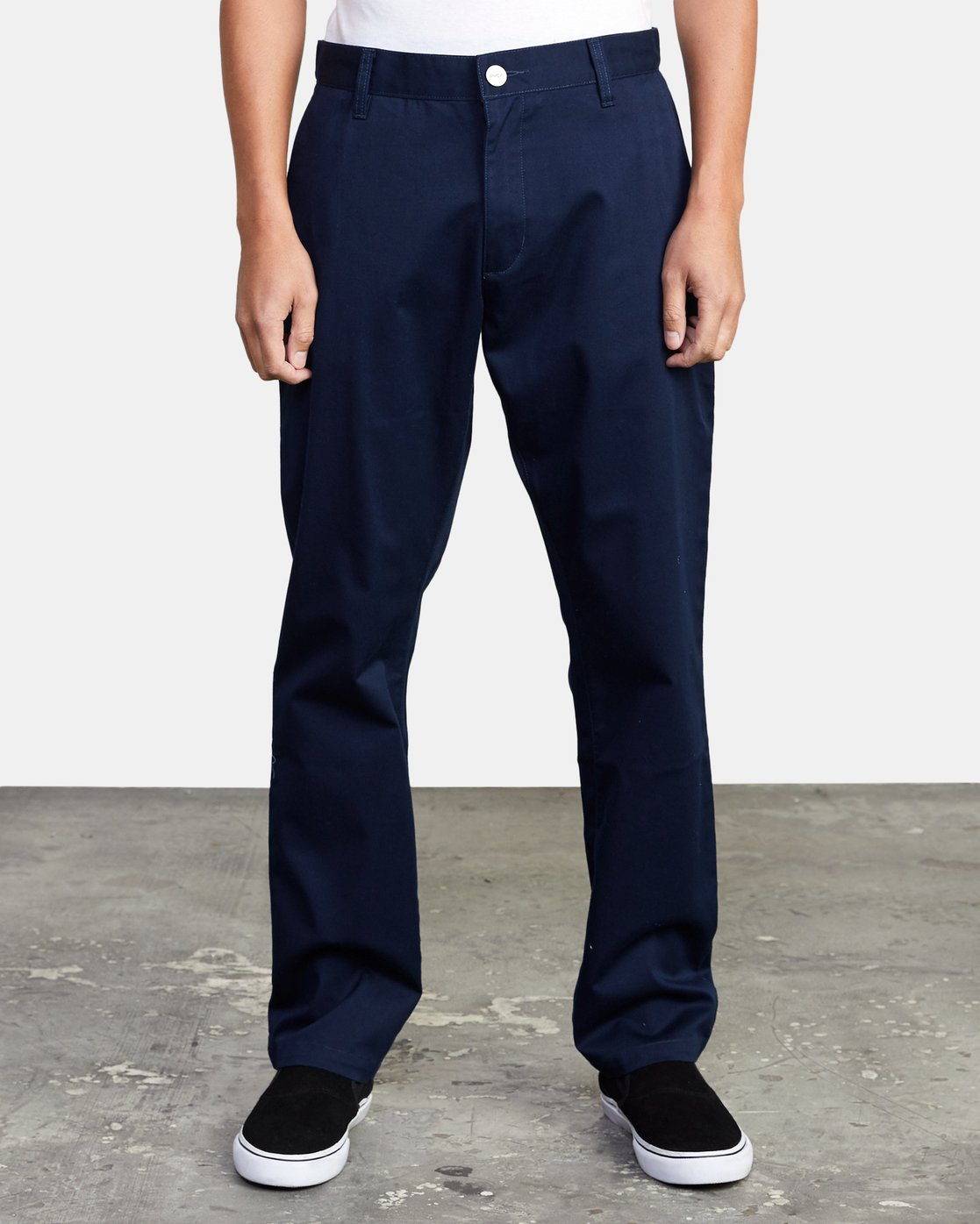 2 week-end Stretch straight fit Pant Blue M3493RWS RVCA