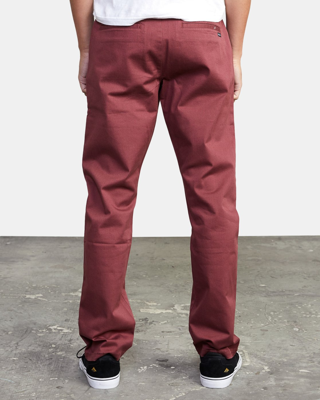 3 WeekEnd Stretch straight fit Pant Red M3493RWS RVCA