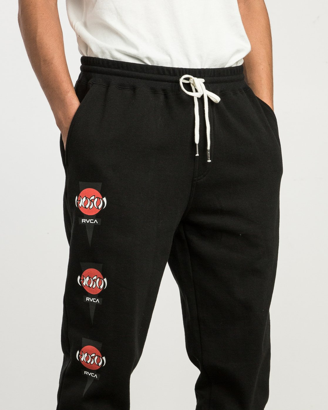 6 Christian Hosoi Sweat Pant Black M350SRHS RVCA
