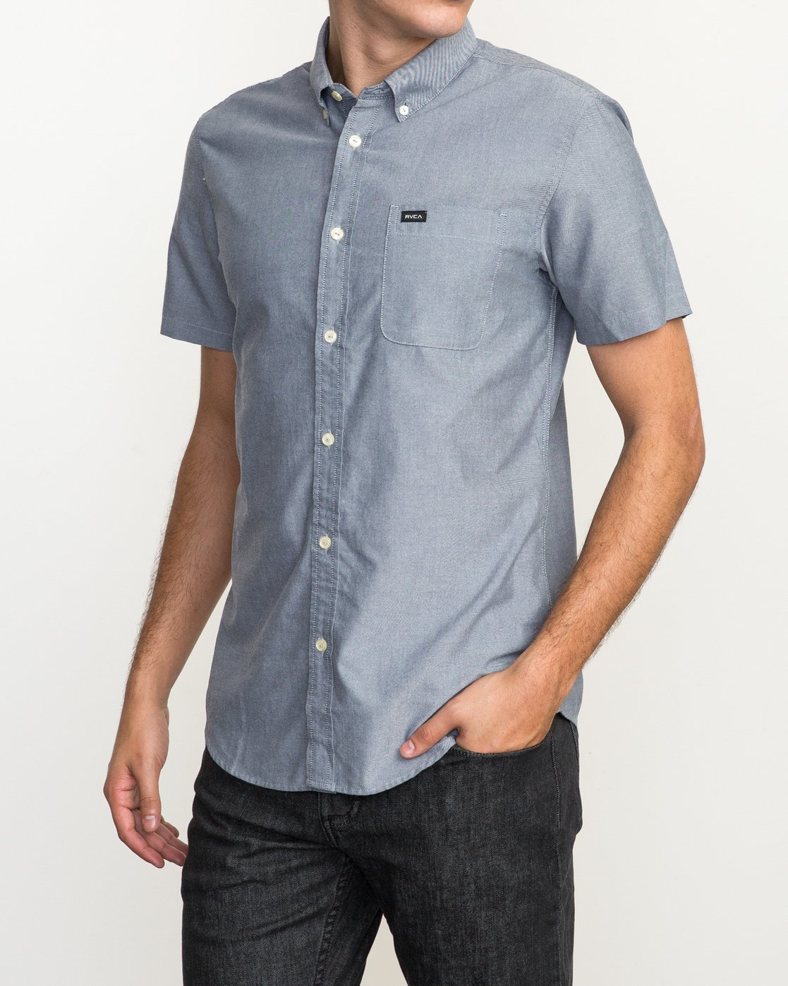 2 That'll Do Oxford Shirt Blue M3514TDS RVCA