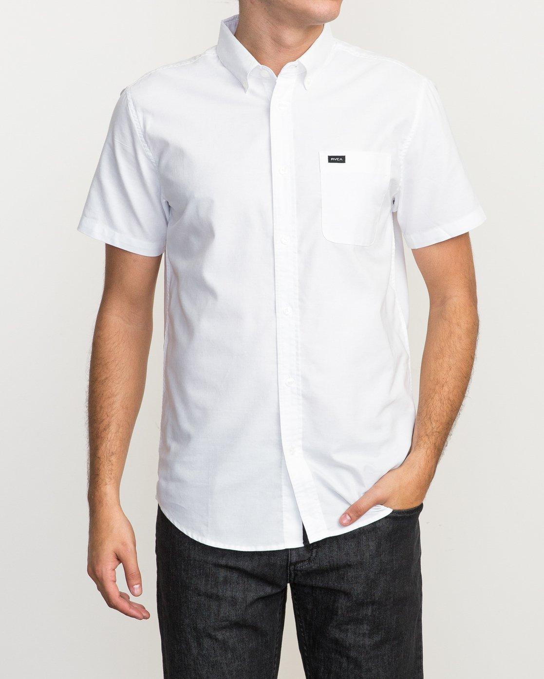 1 That'll Do Oxford Shirt White M3514TDS RVCA