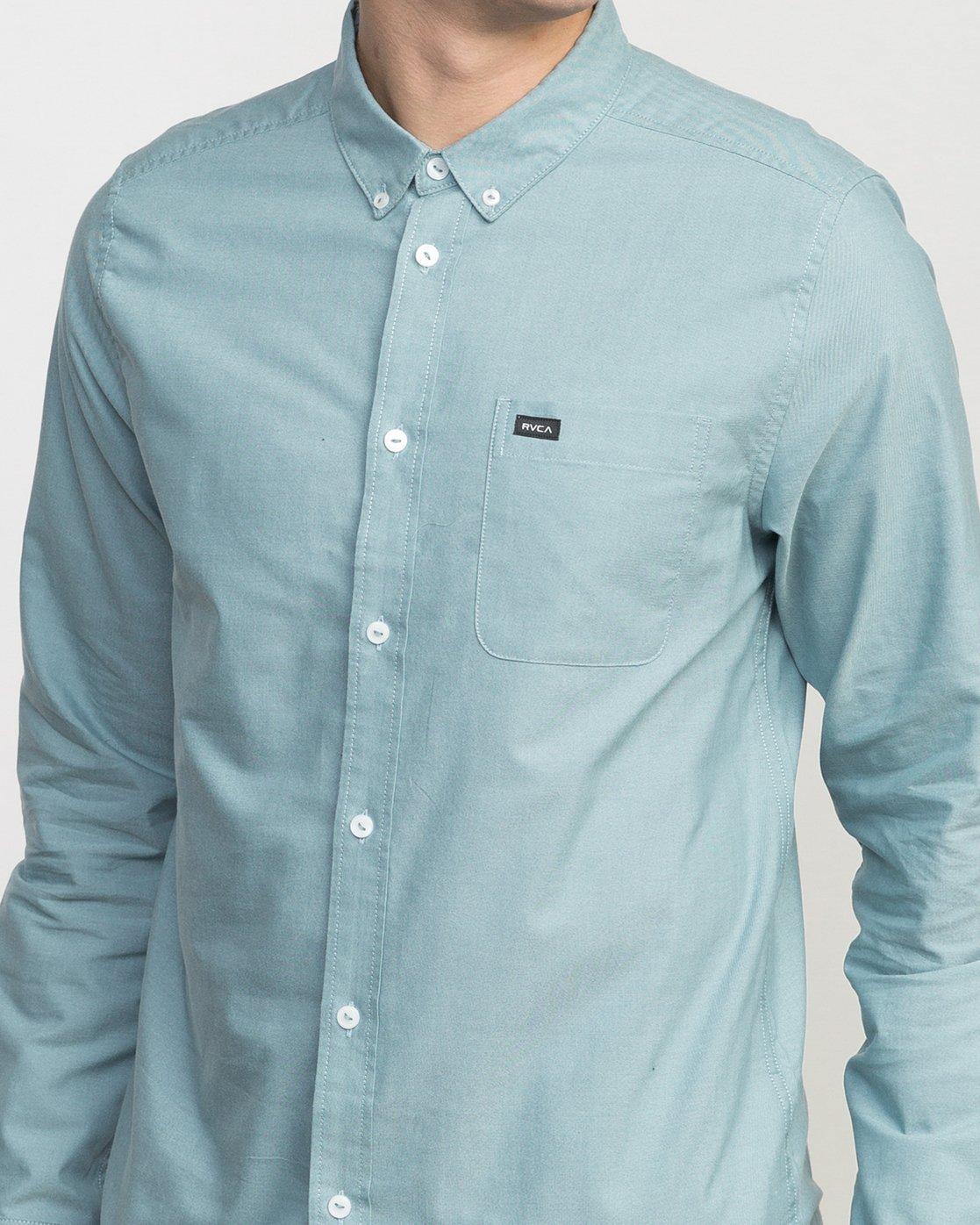 4 That'll Do Oxford Long Sleeve Shirt Blue M3515TDL RVCA