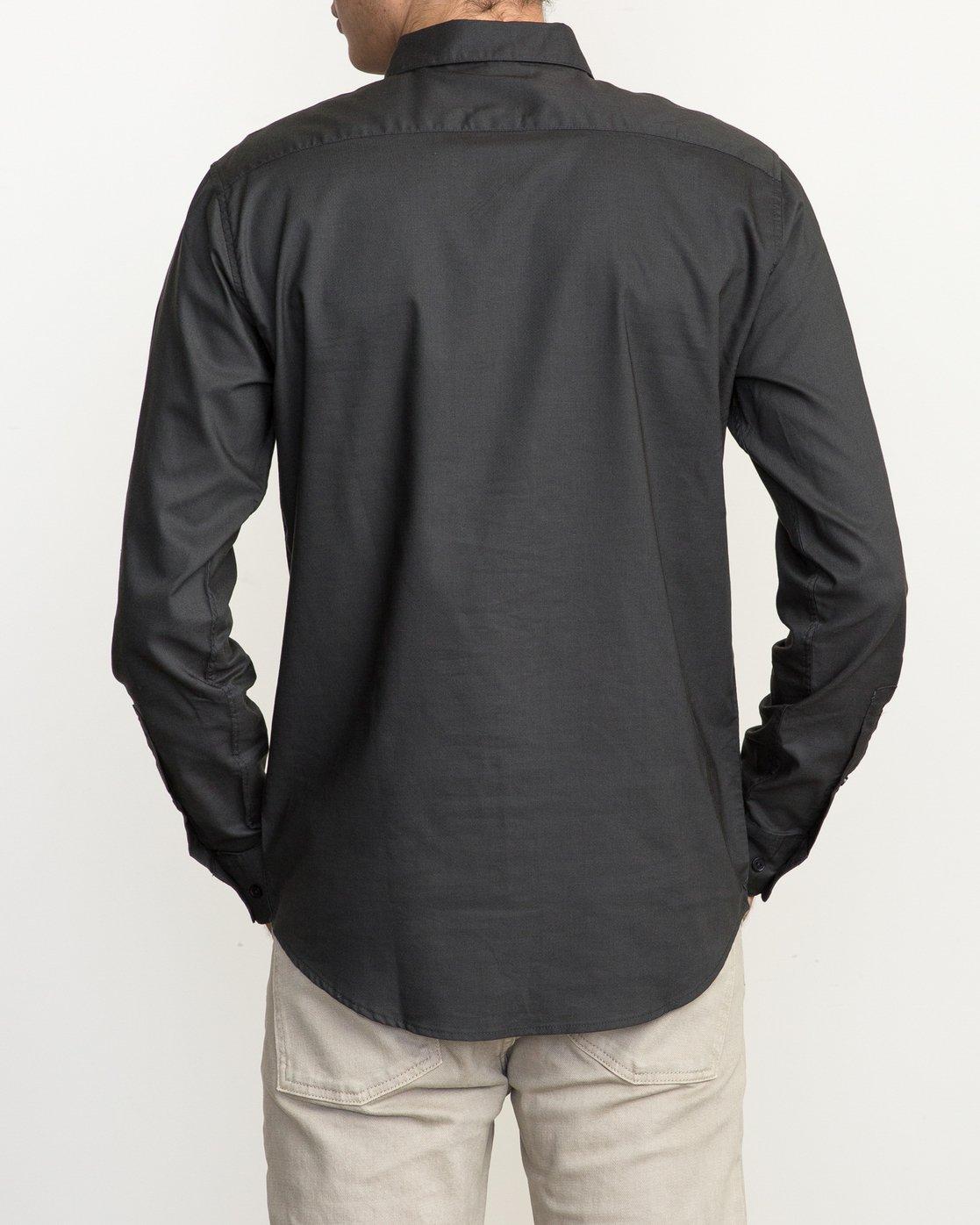 4 That'll Do Oxford Long Sleeve Shirt Black M3515TDL RVCA