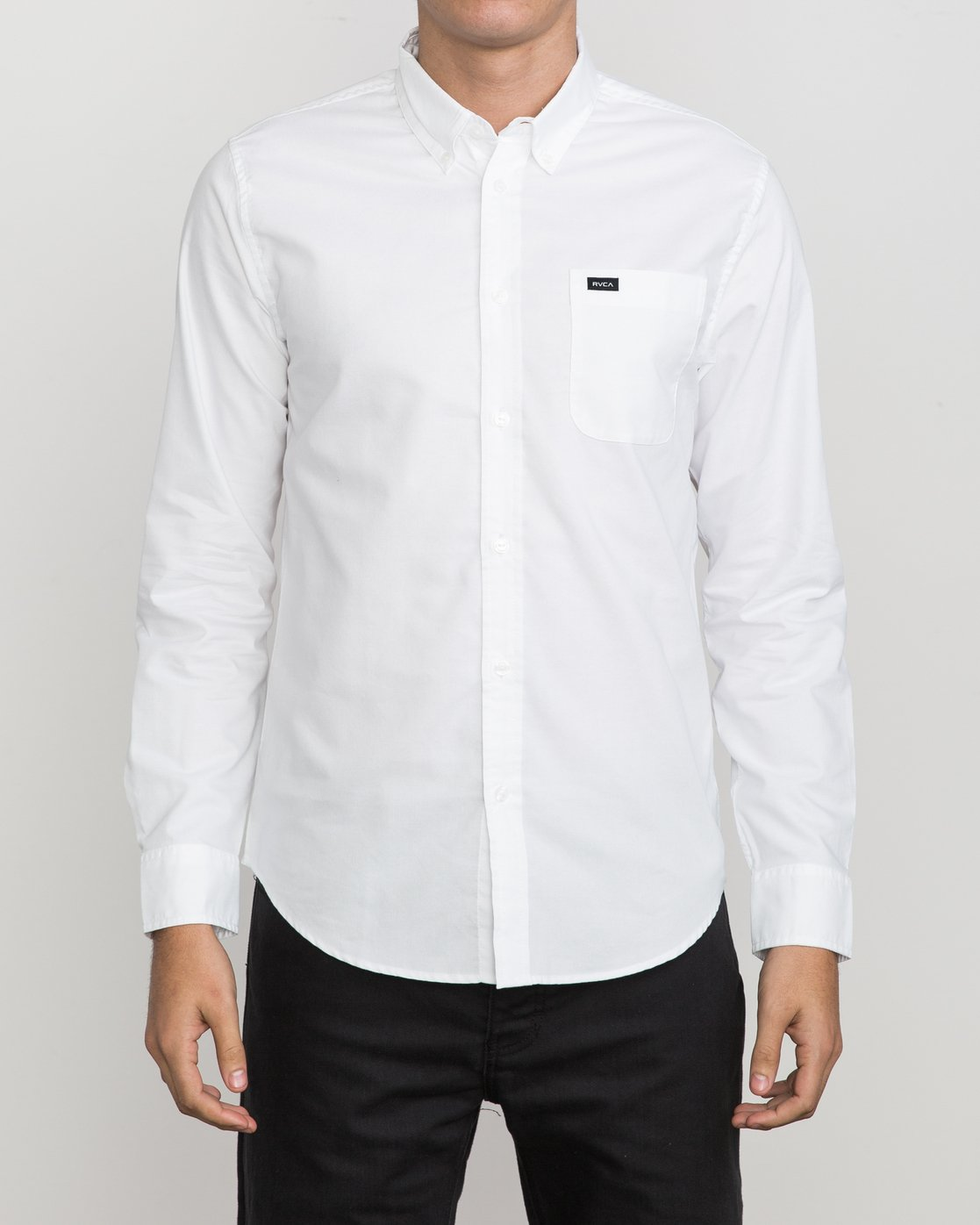 1 That'll Do Oxford Long Sleeve Shirt White M3515TDL RVCA