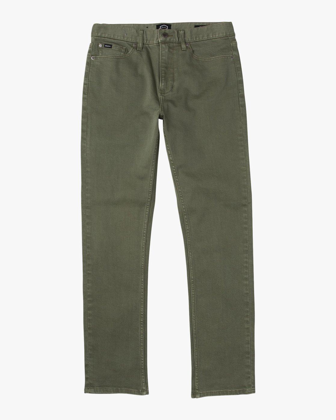 6 Daggers Pigment Slim-Straight Jeans Green M351QRDP RVCA