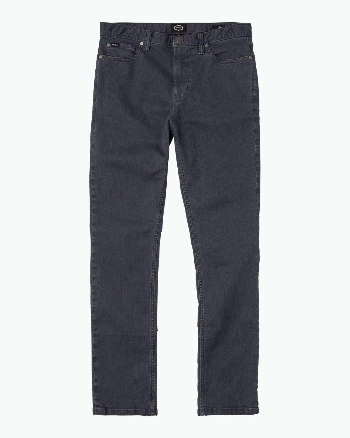 6 Daggers Pigment Slim-Straight Jeans Grey M351QRDP RVCA