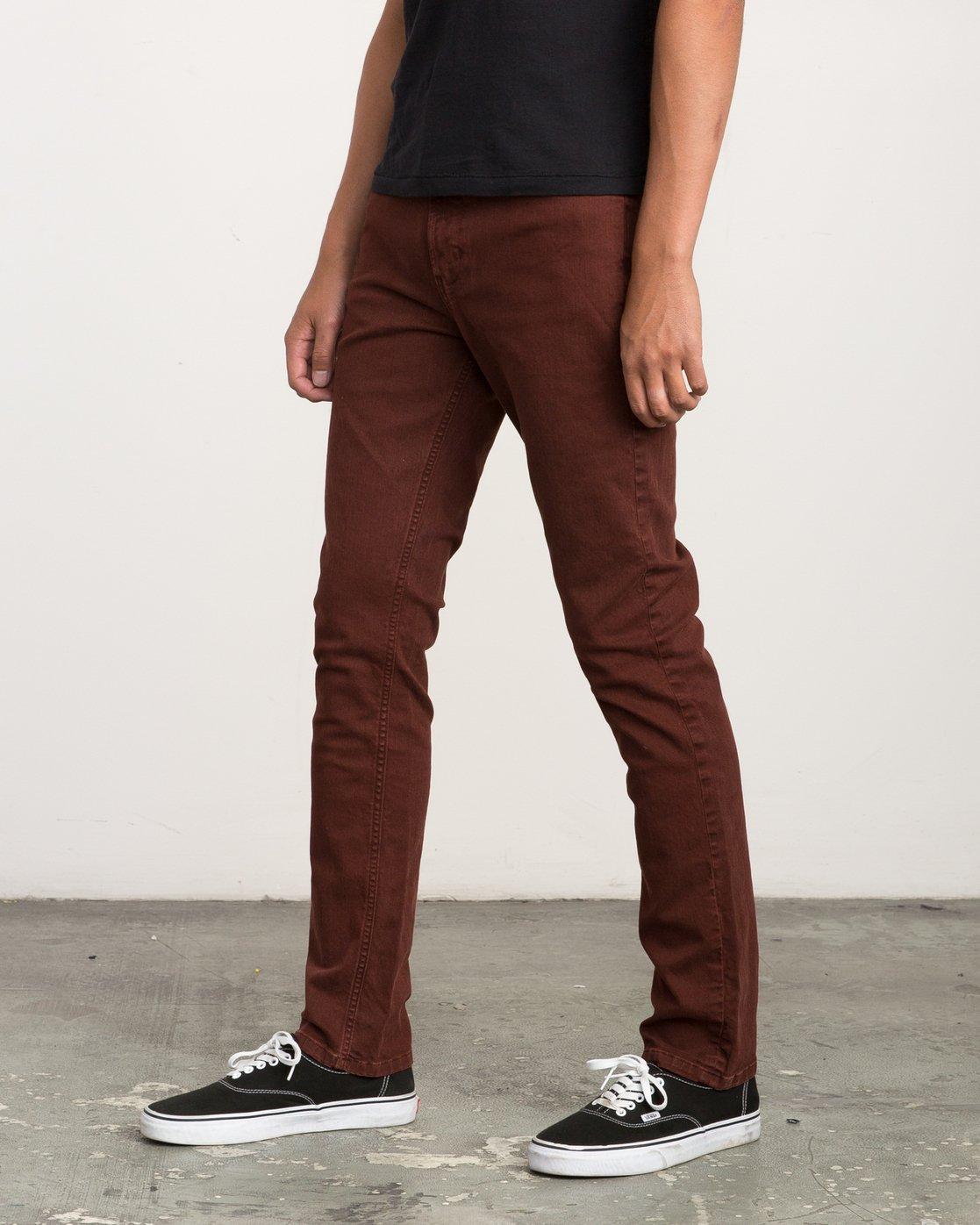 1 Daggers Pigment Slim-Straight Jeans Red M351QRDP RVCA