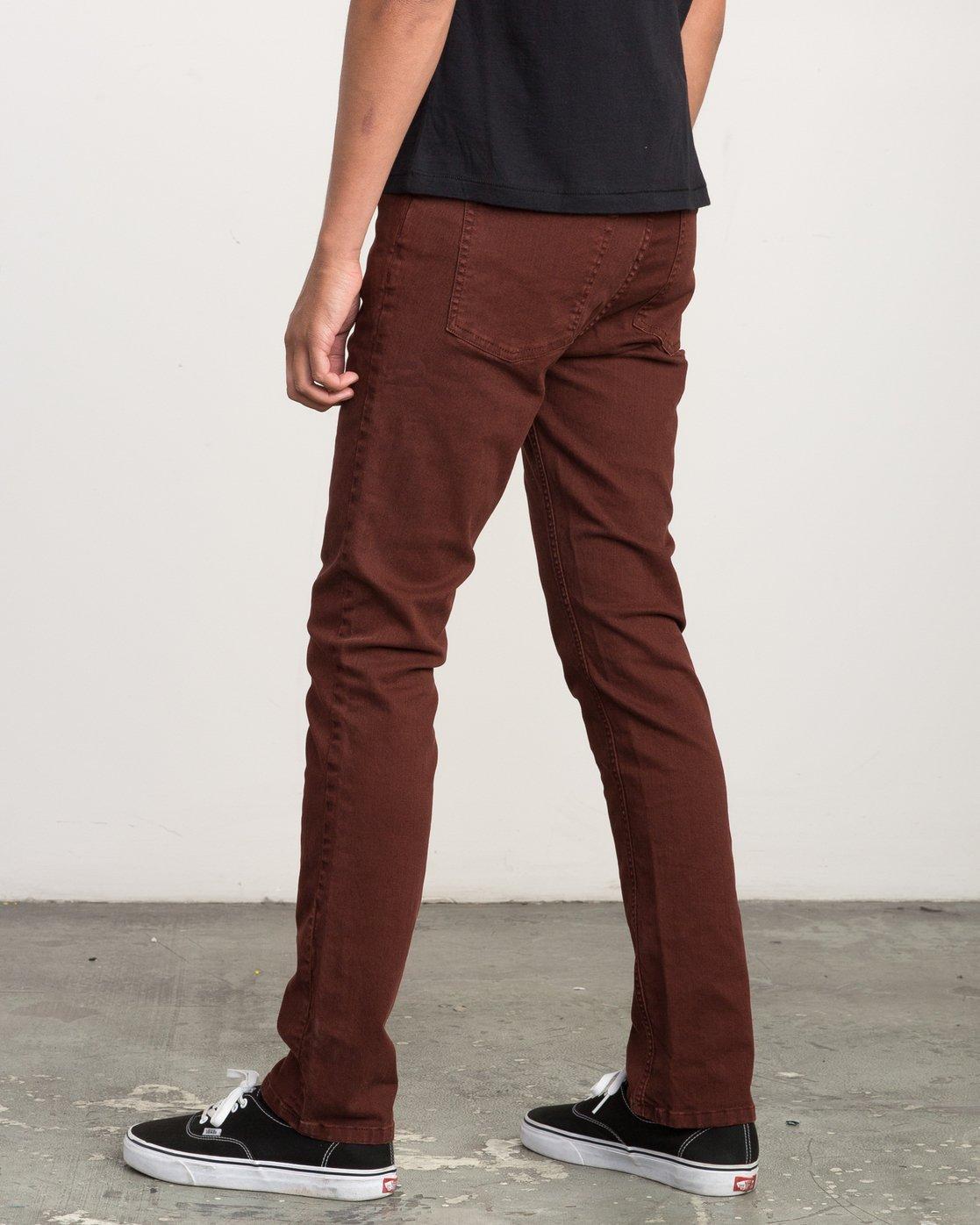 2 Daggers Pigment Slim-Straight Jeans Red M351QRDP RVCA