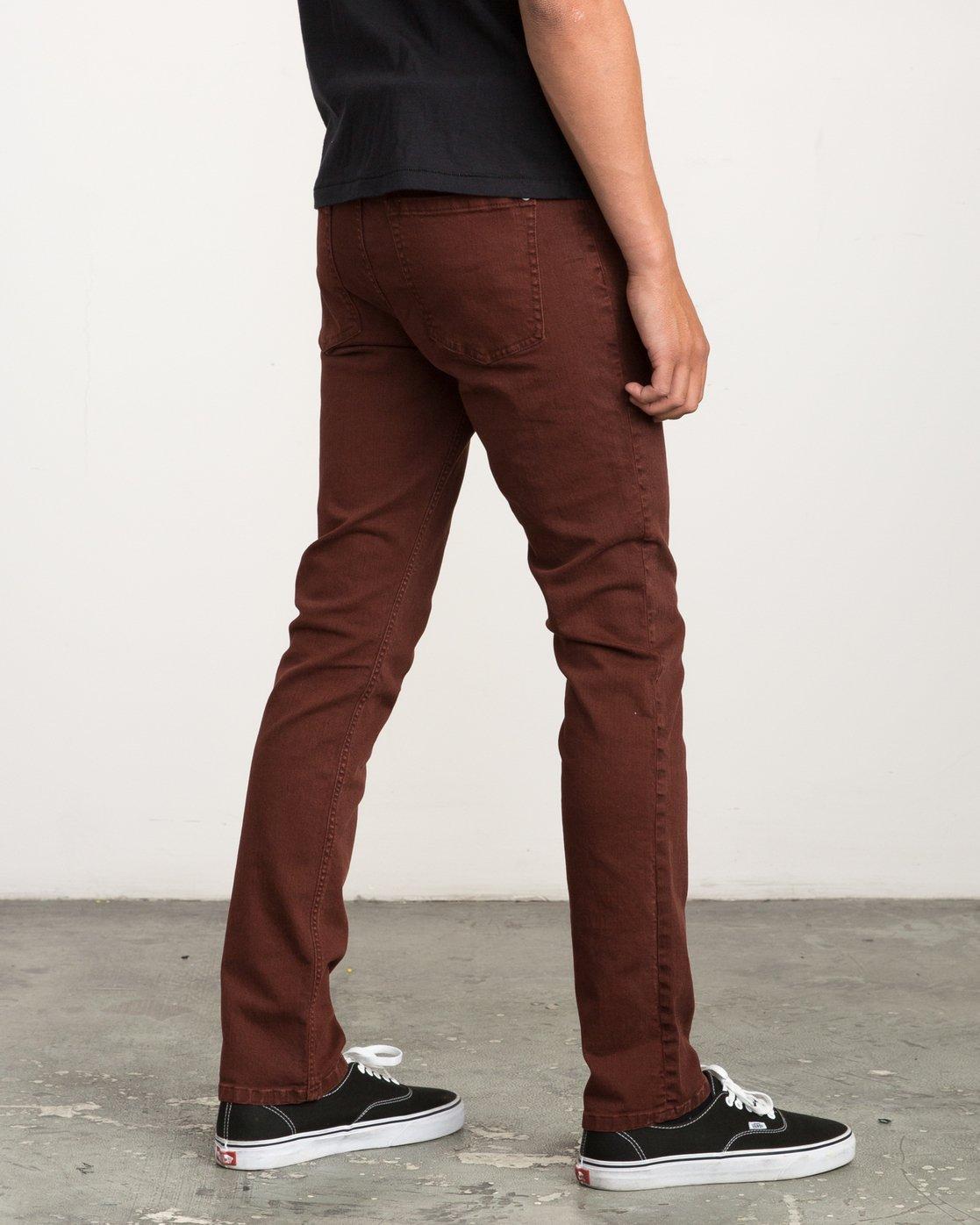 4 Daggers Pigment Slim-Straight Jeans Red M351QRDP RVCA