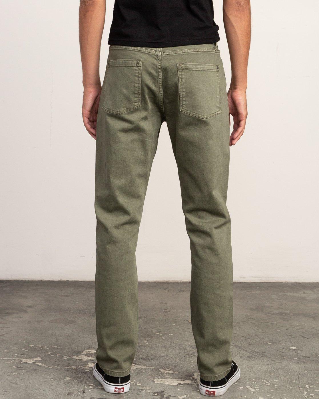 3 Daggers Pigment Slim-Straight Jeans Green M351QRDP RVCA