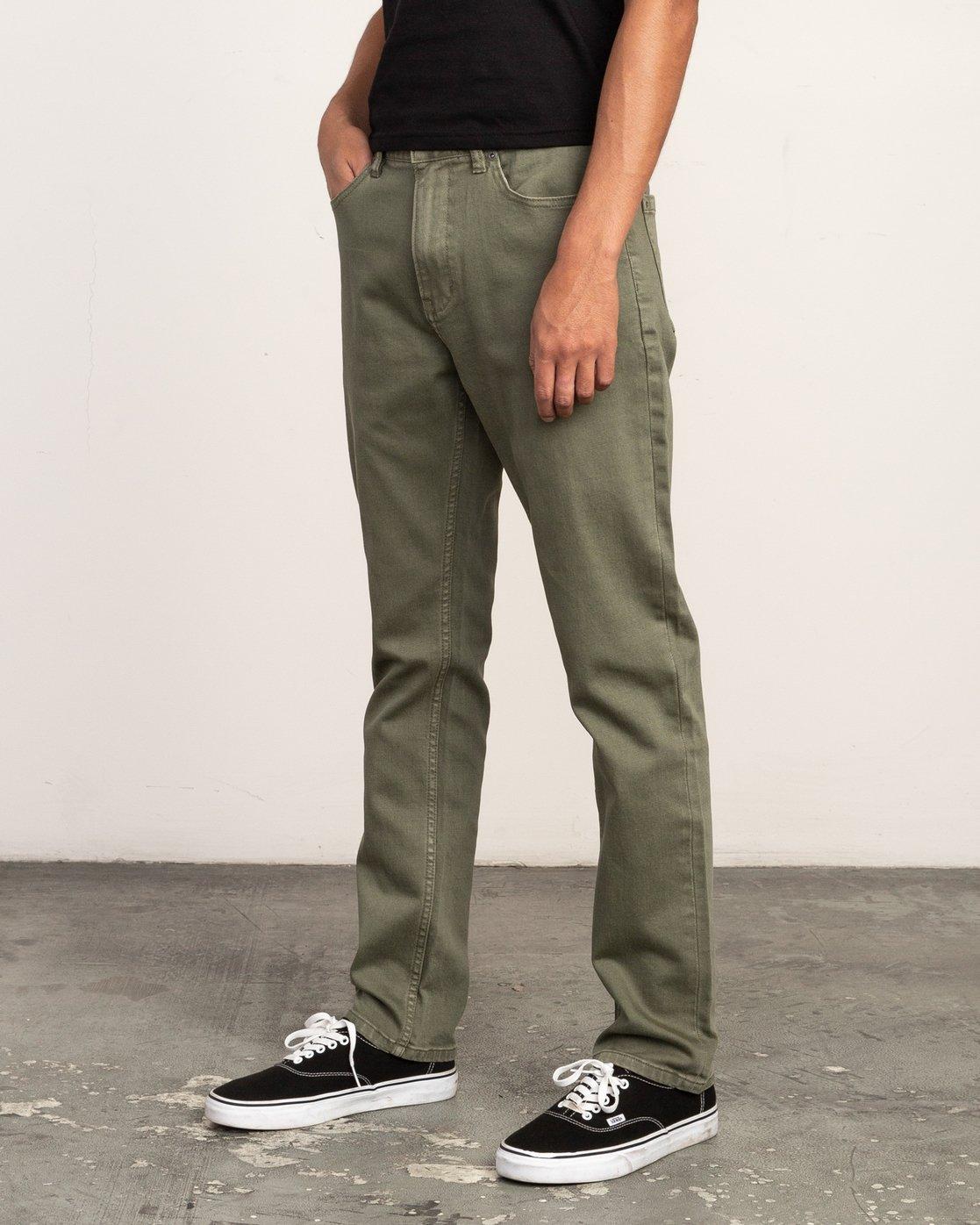 1 Daggers Pigment Slim-Straight Jeans Green M351QRDP RVCA