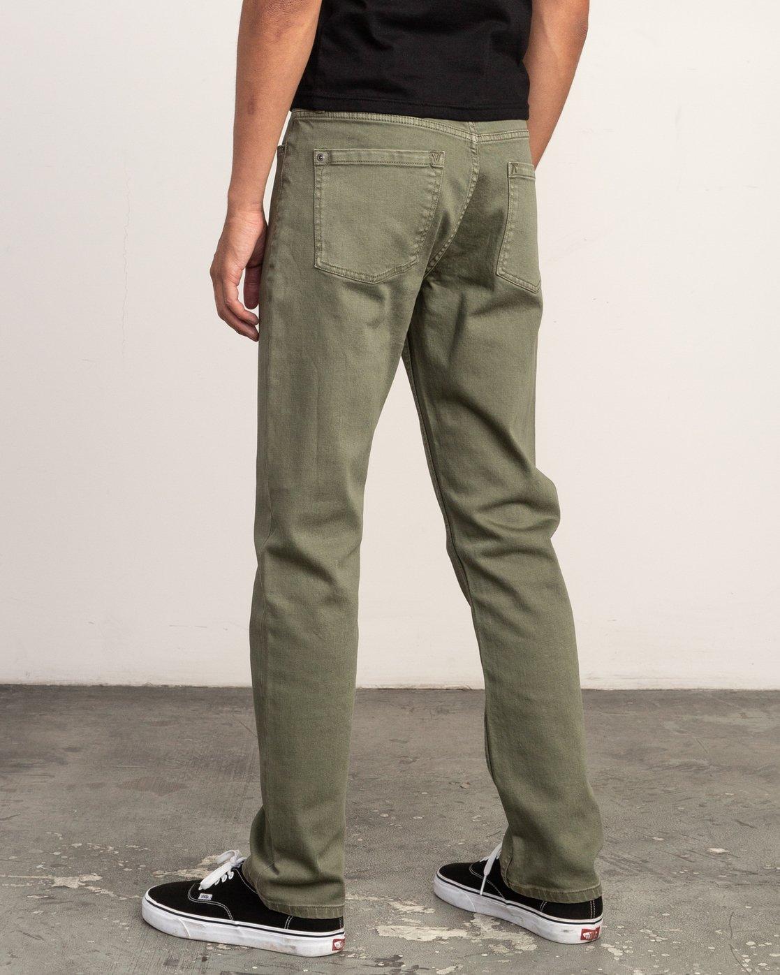 2 Daggers Pigment Slim-Straight Jeans Green M351QRDP RVCA