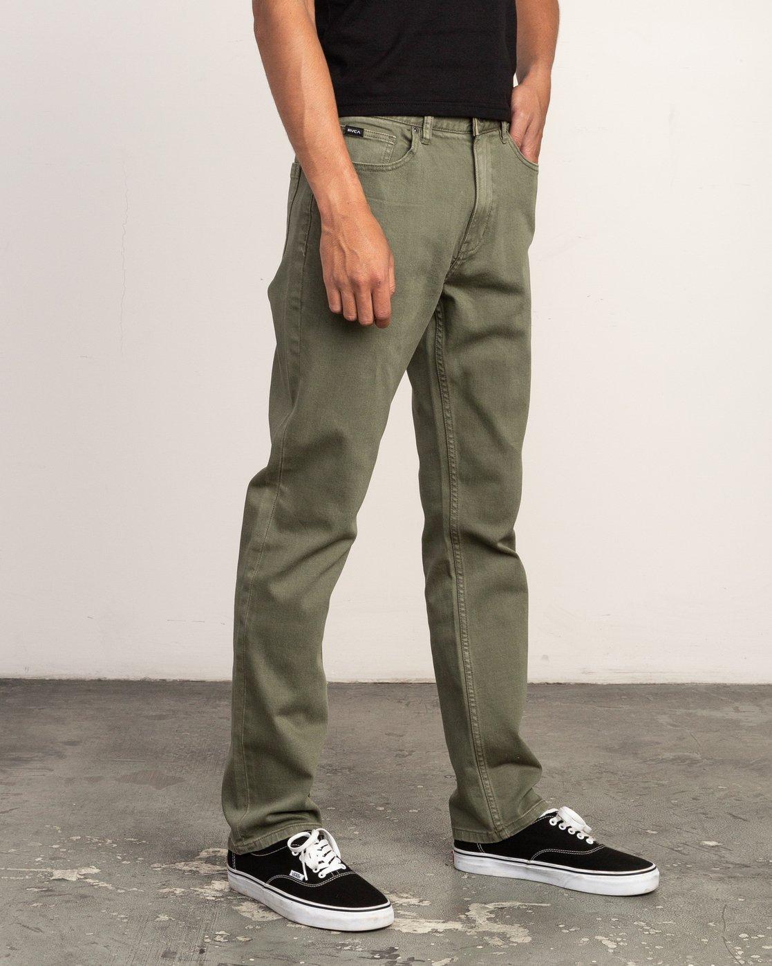 5 Daggers Pigment Slim-Straight Jeans Green M351QRDP RVCA