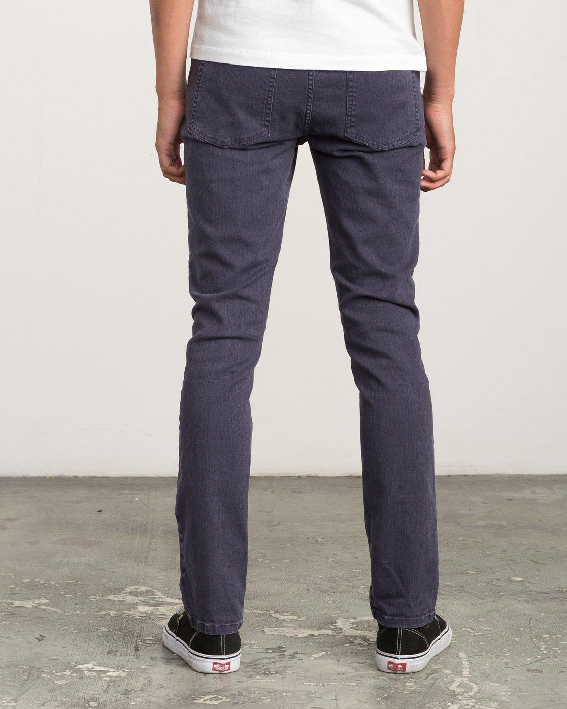 3 Daggers Pigment Slim-Straight Jeans Grey M351QRDP RVCA