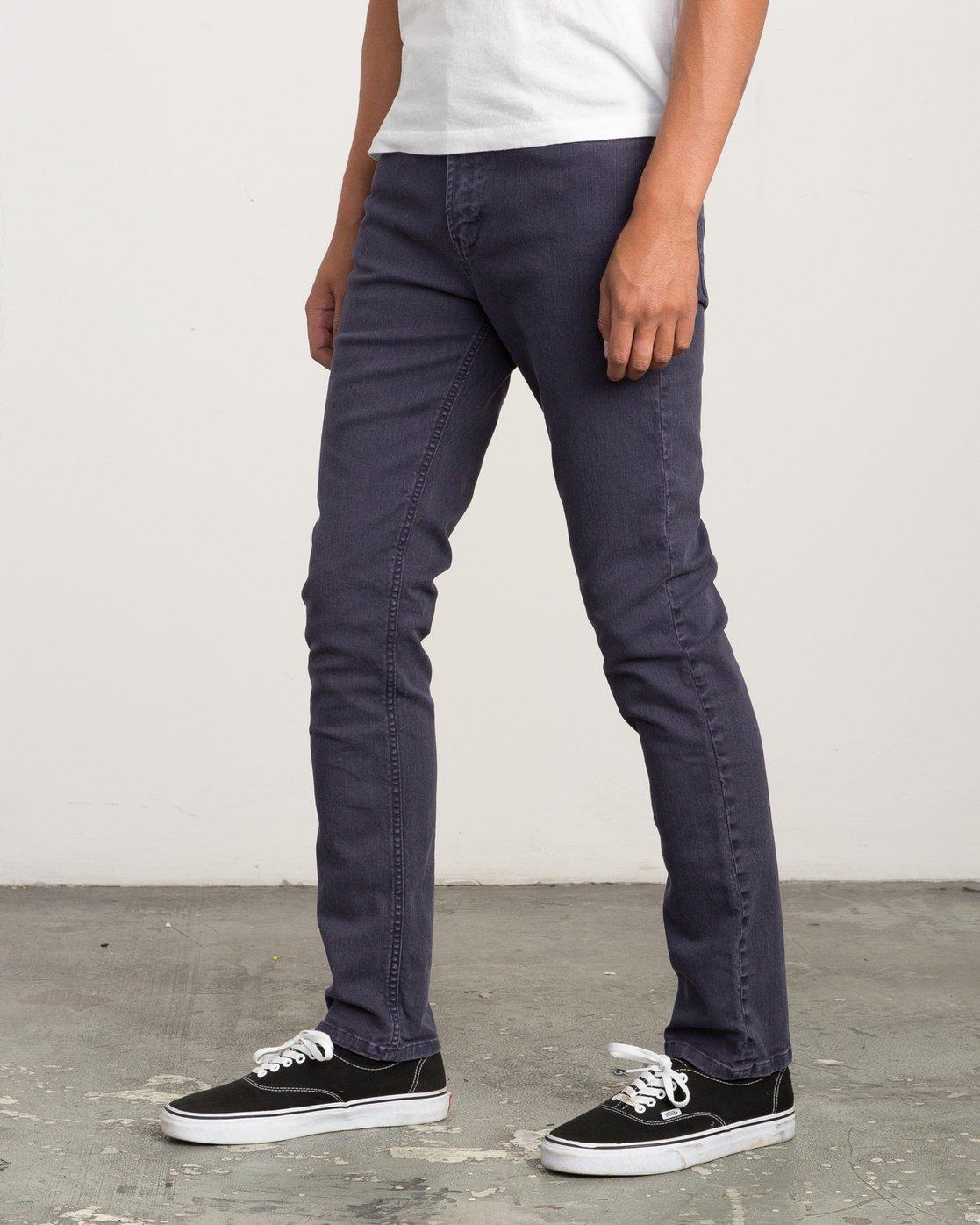 1 Daggers Pigment Slim-Straight Jeans Grey M351QRDP RVCA