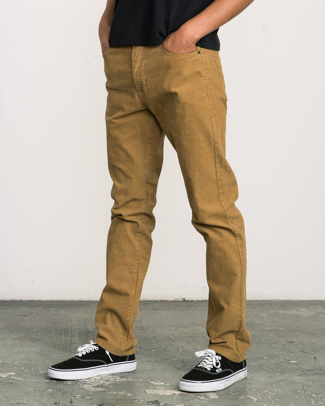1 Daggers Pigment Corduroy Jeans Brown M352QRDC RVCA