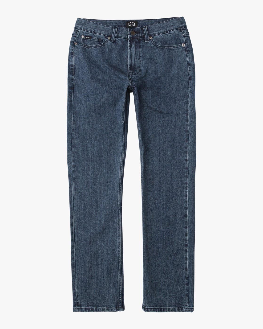 5 Stay RVCA Straight Fit Denim Jeans  M354QRSR RVCA