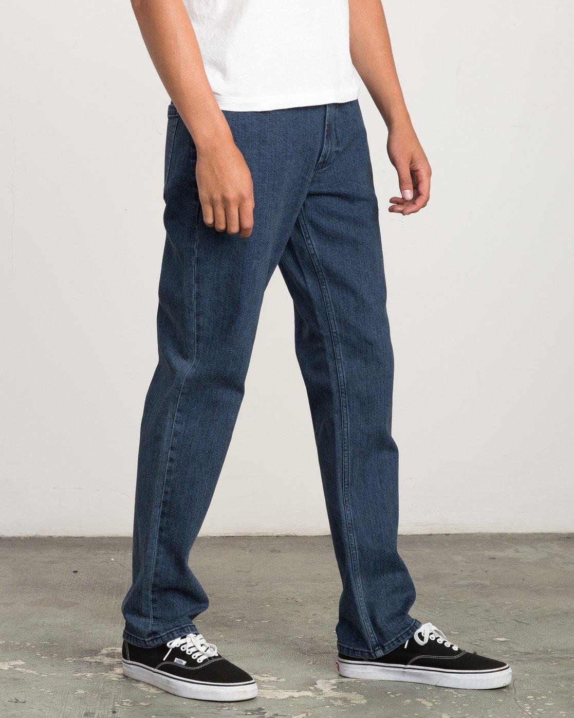 4 Stay RVCA Straight Fit Denim Jeans  M354QRSR RVCA