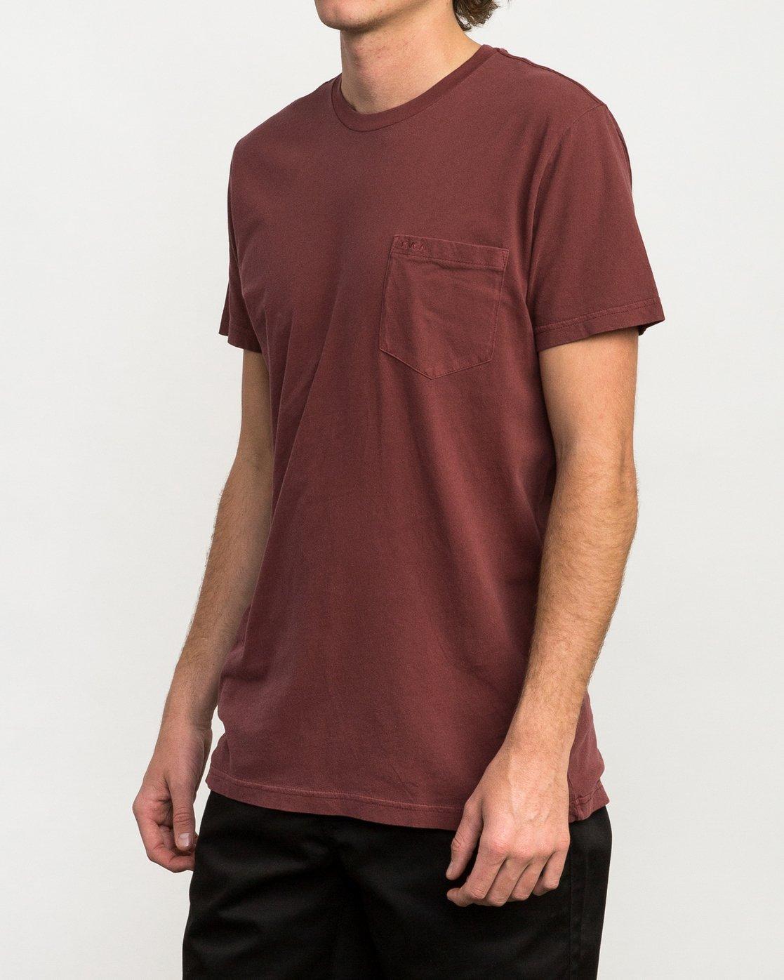 2 Ptc 2 Pigment T-Shirt Red M3910PTC RVCA