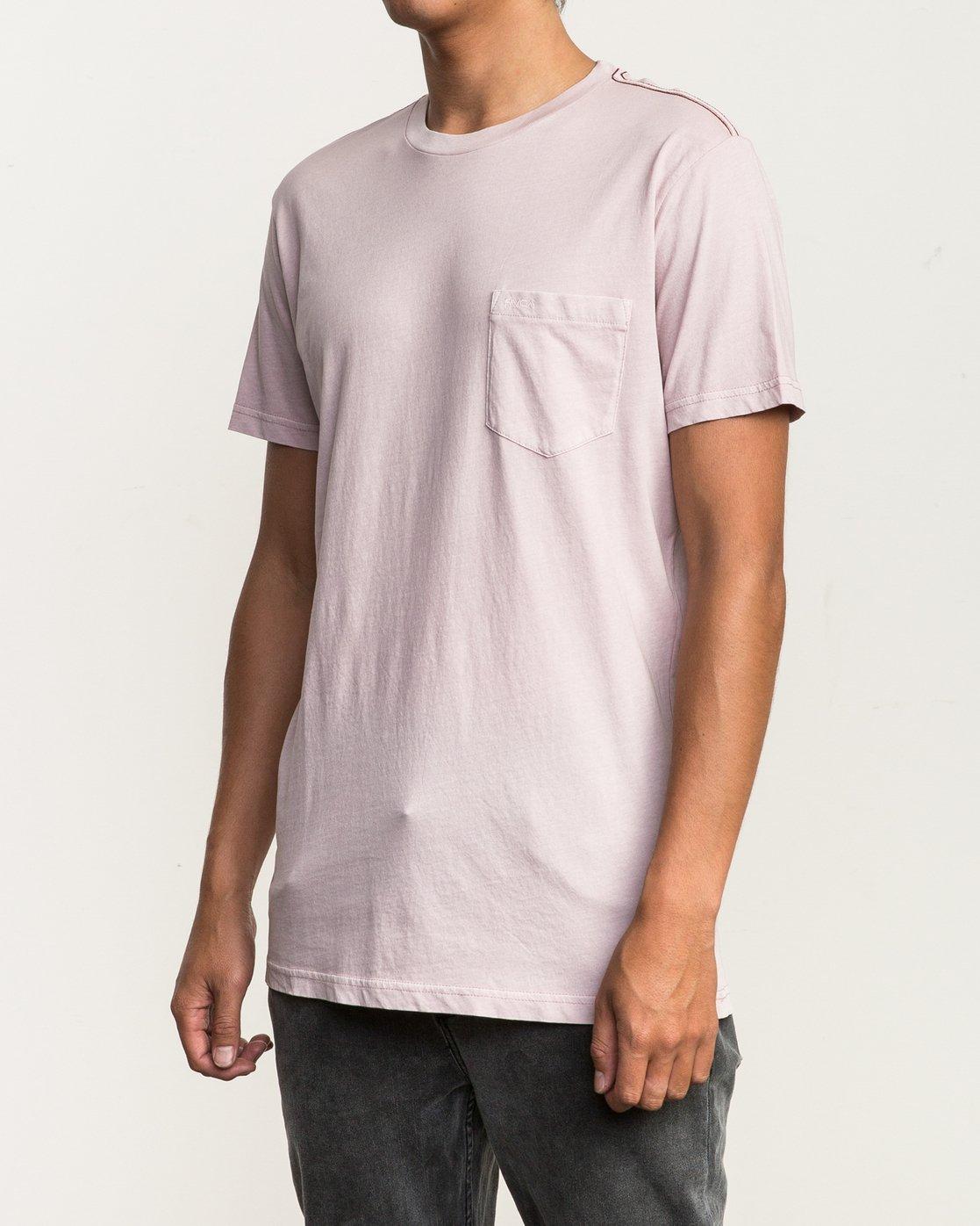 2 Ptc 2 Pigment T-Shirt Pink M3910PTC RVCA