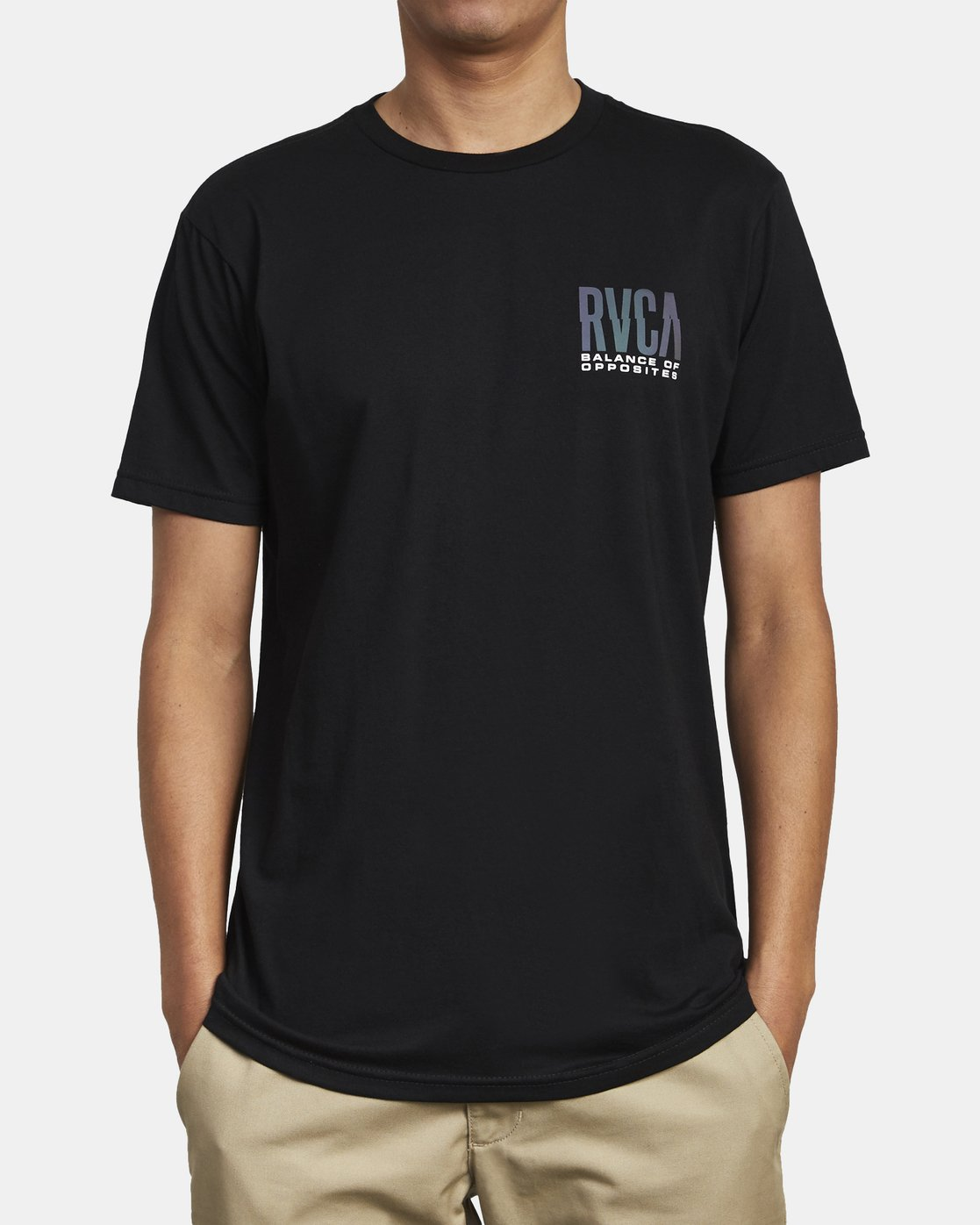 3 HAZED TEE Black M4011RHO RVCA