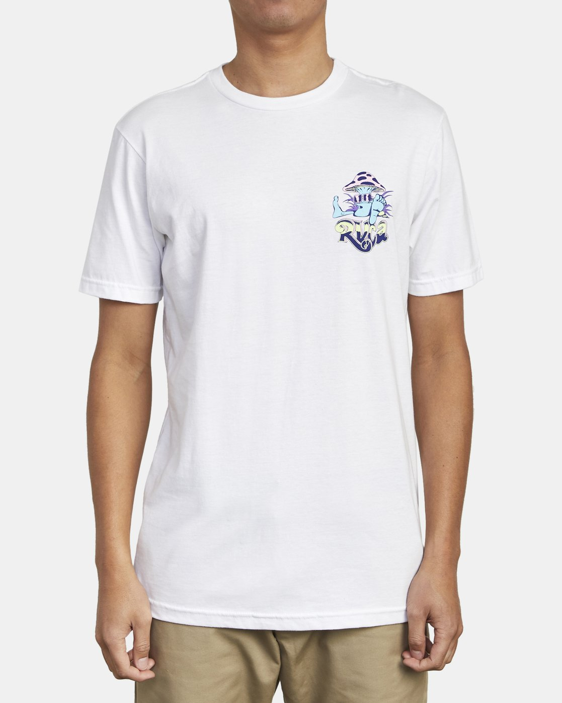 1 MUSHY KID TEE White M4011RMU RVCA