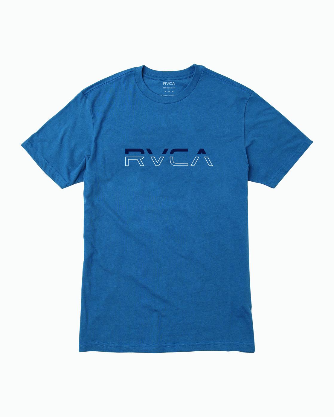 0 SPLIT PIN T-SHIRT Blue M4011RSP RVCA
