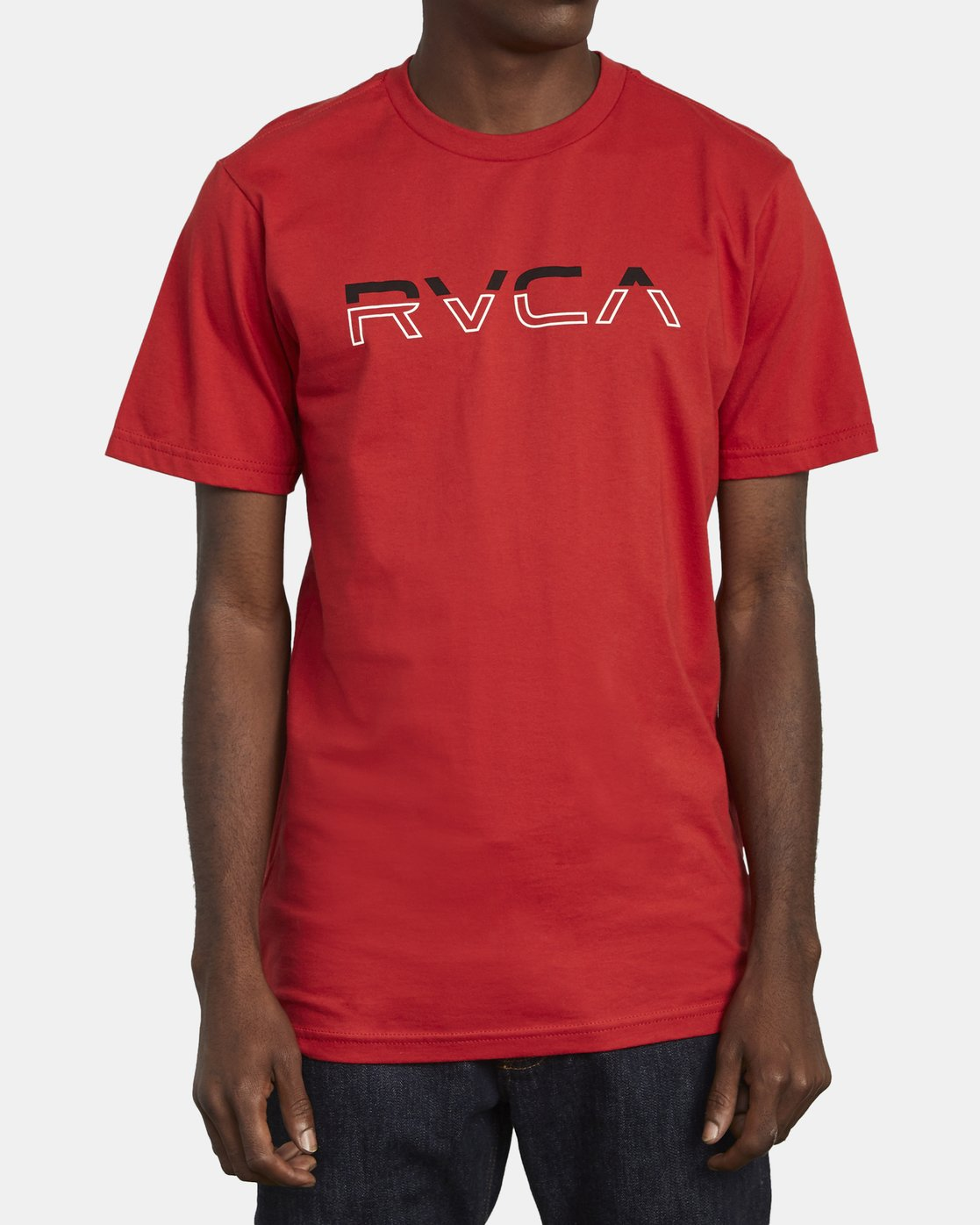 1 SPLIT PIN T-SHIRT Red M4011RSP RVCA