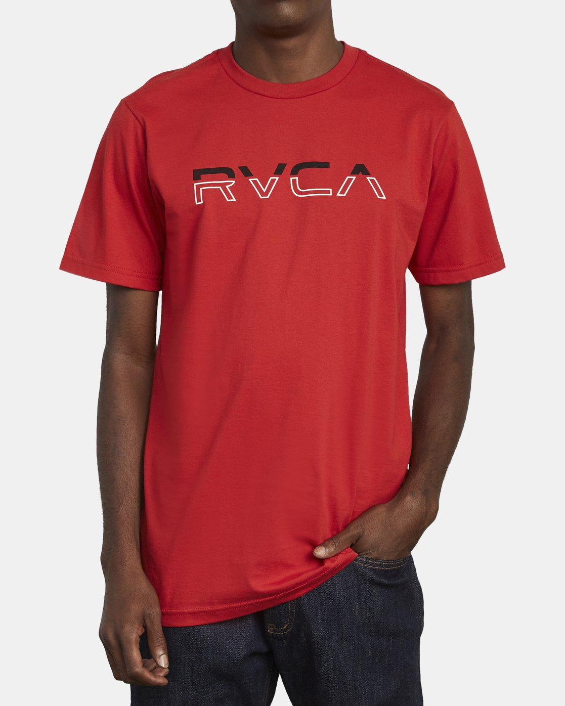 2 SPLIT PIN T-SHIRT Red M4011RSP RVCA