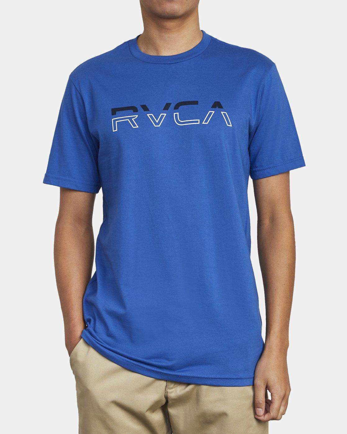 2 SPLIT PIN T-SHIRT Blue M4011RSP RVCA
