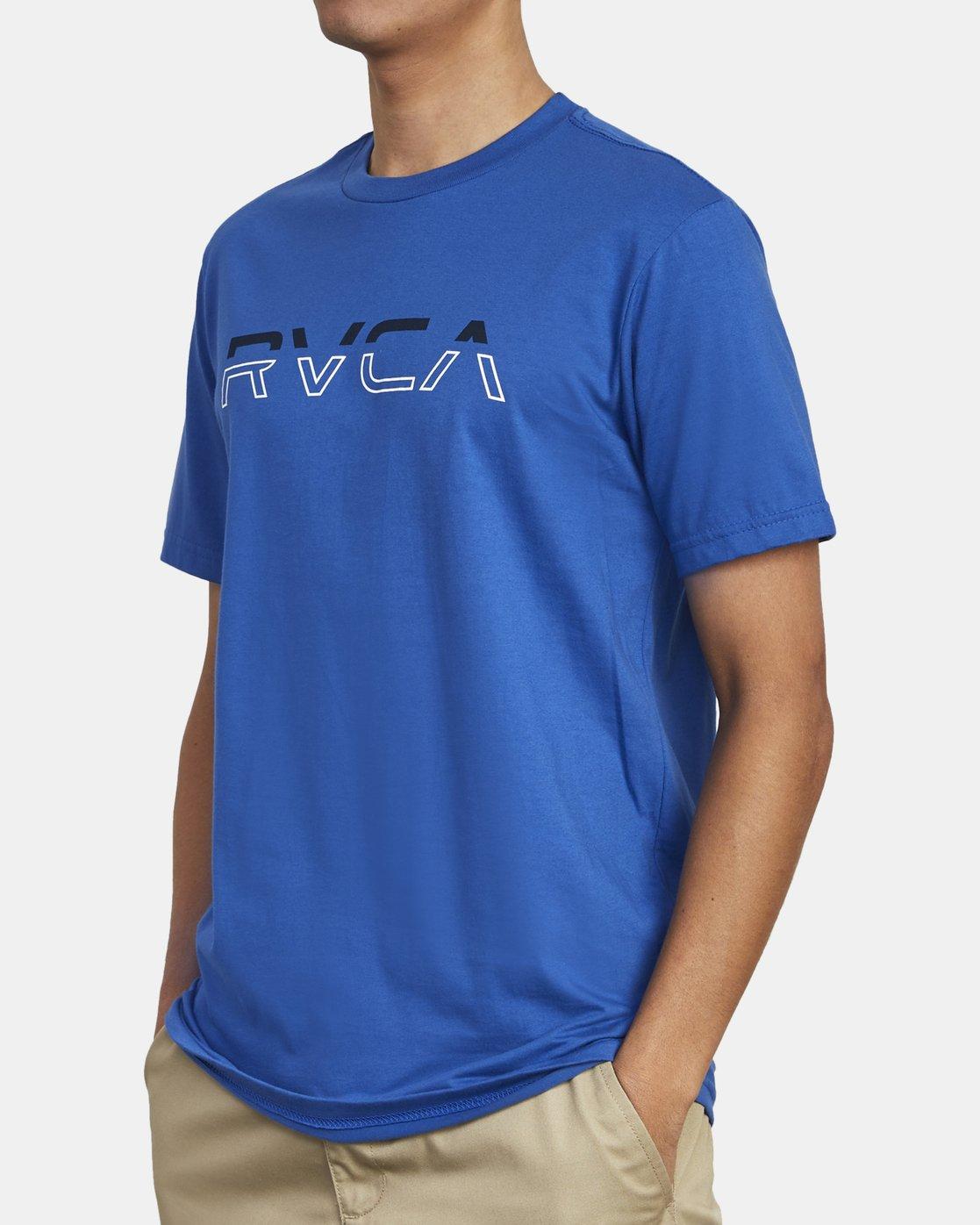 4 SPLIT PIN T-SHIRT Blue M4011RSP RVCA