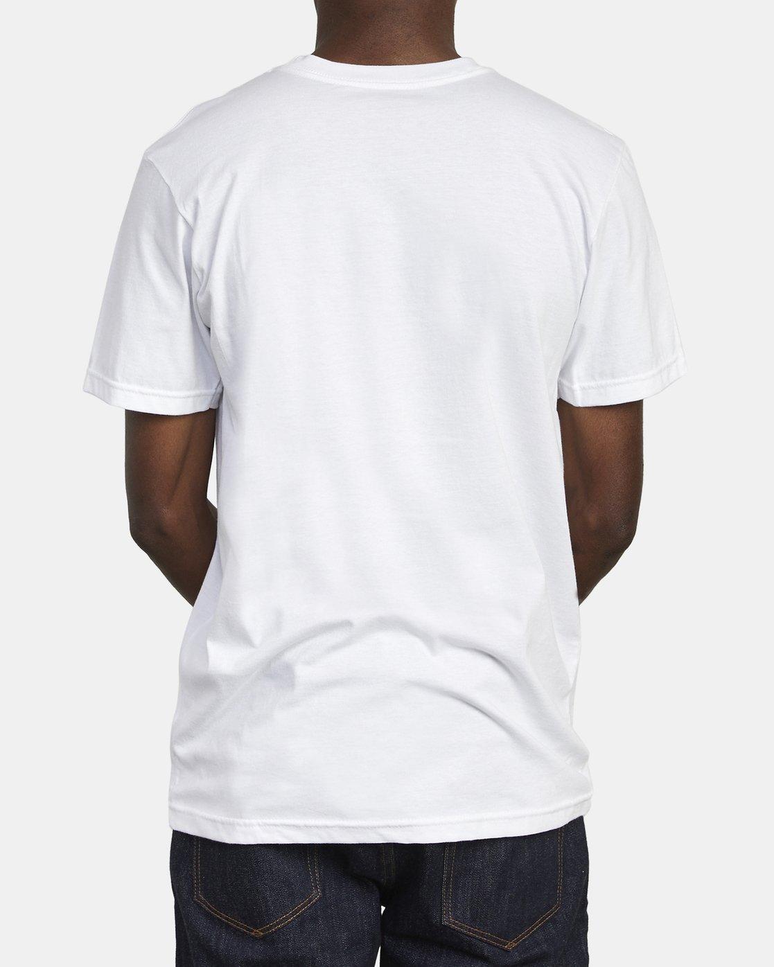 5 SPLIT PIN T-SHIRT White M4011RSP RVCA