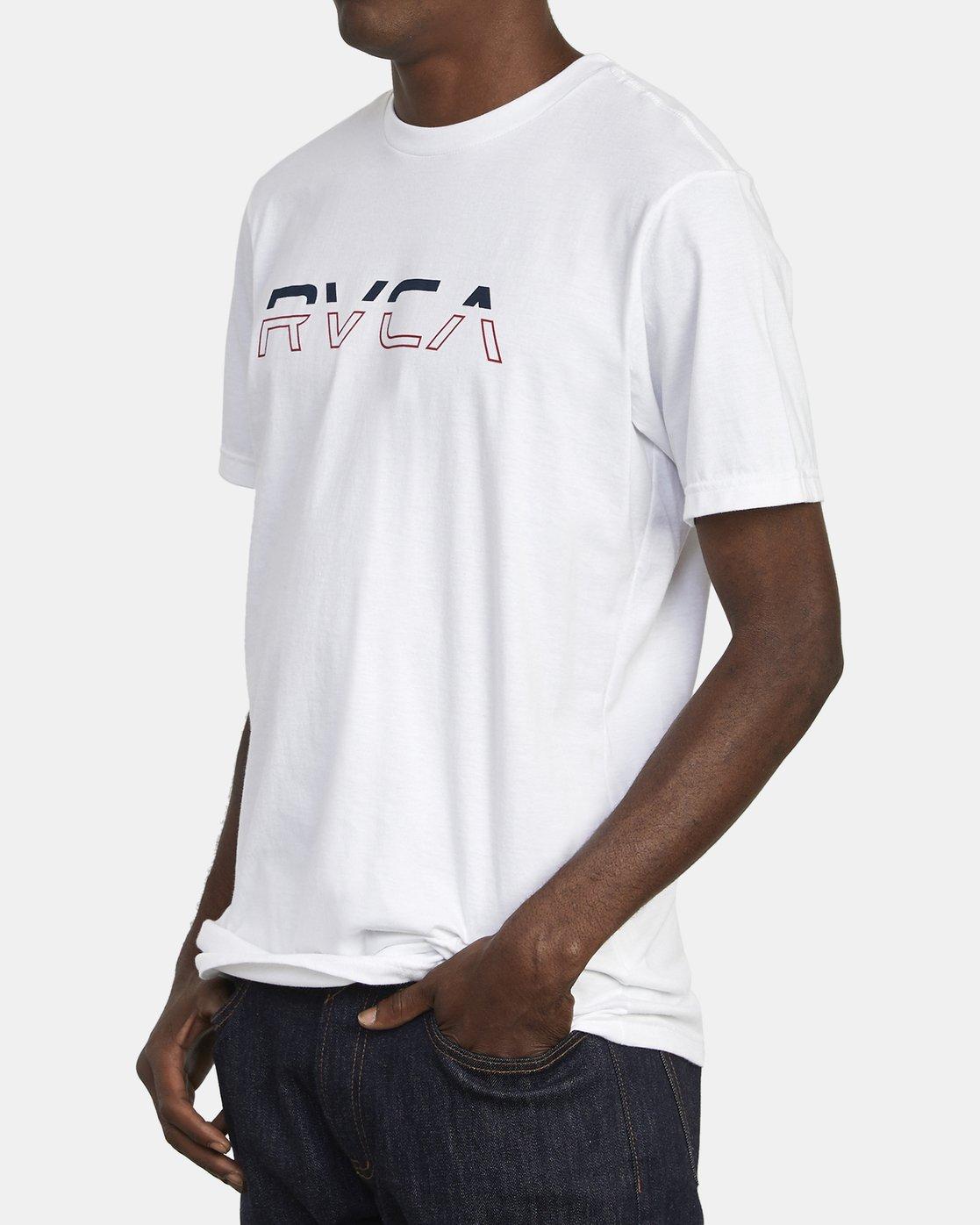 3 SPLIT PIN T-SHIRT White M4011RSP RVCA