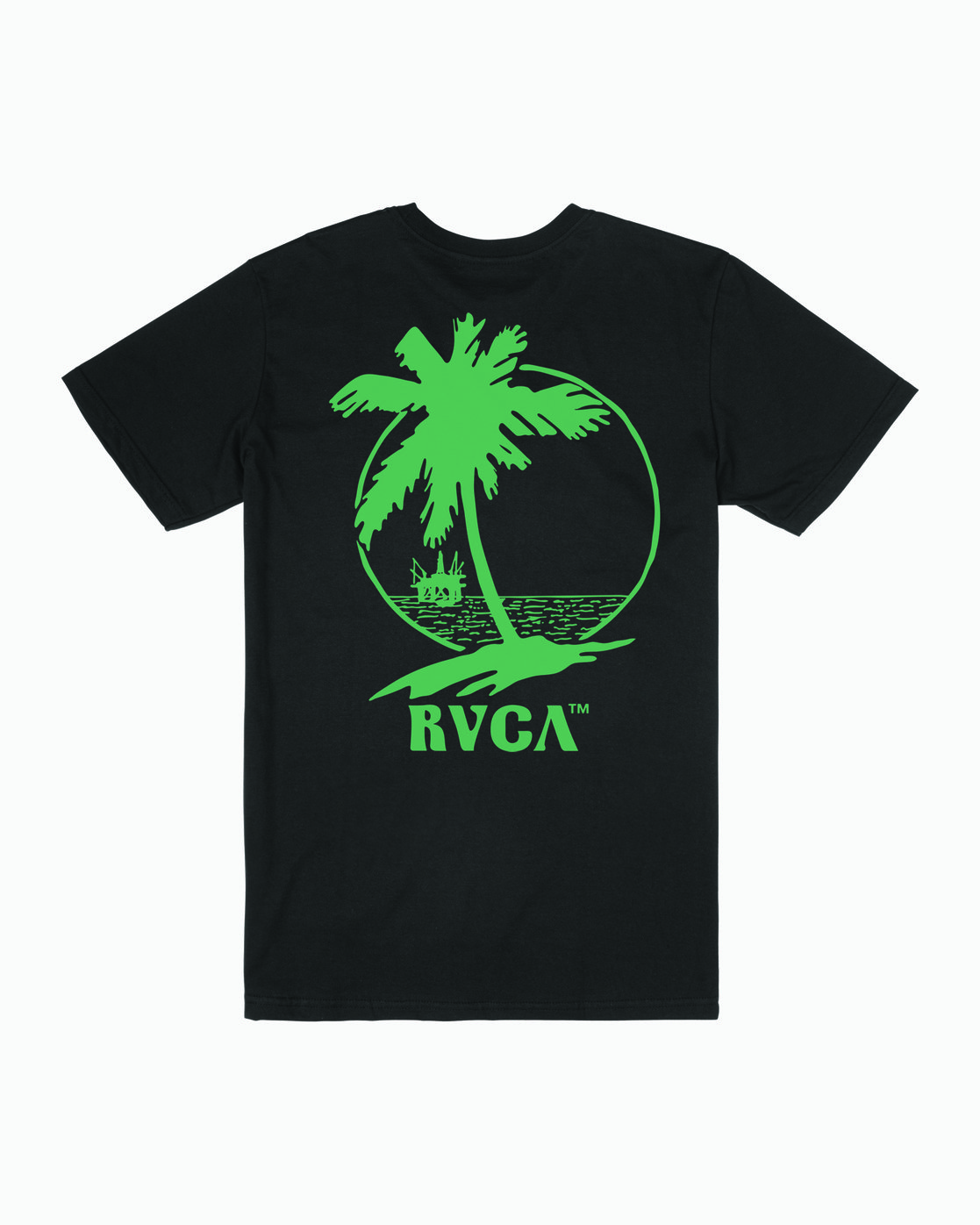 1 NAT CORP IND SHORT SLEEVE T-SHIRT Black M4012RNA RVCA