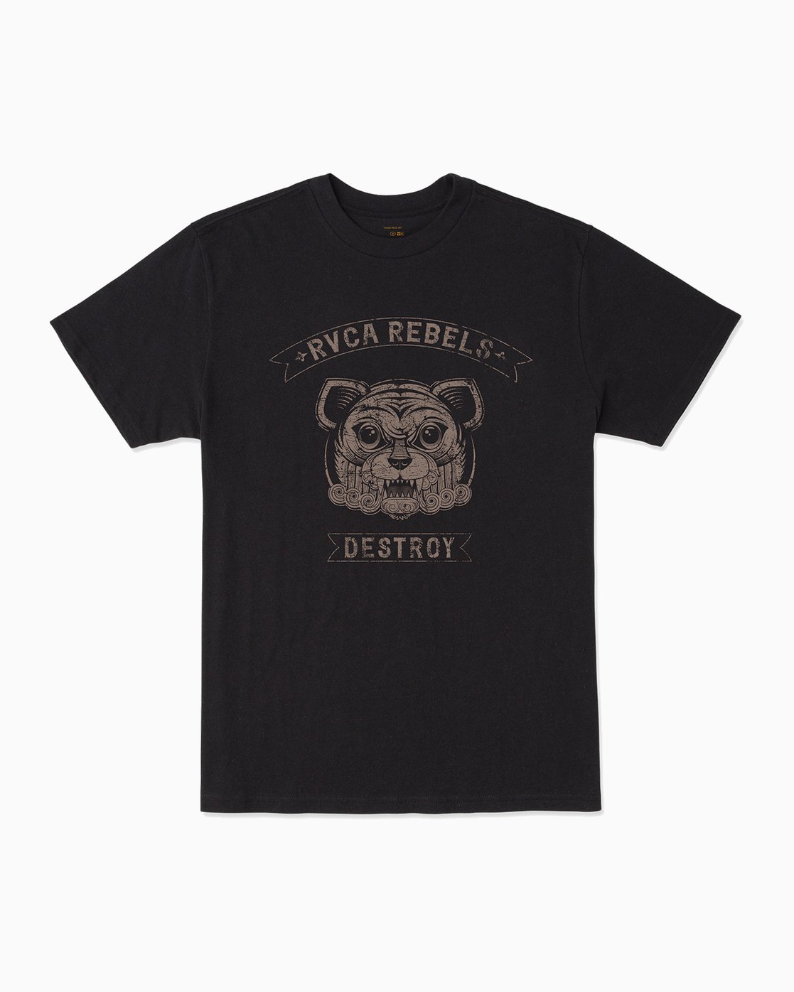 0 George Thompson RVCA Rebels T-Shirt Black M401301R RVCA