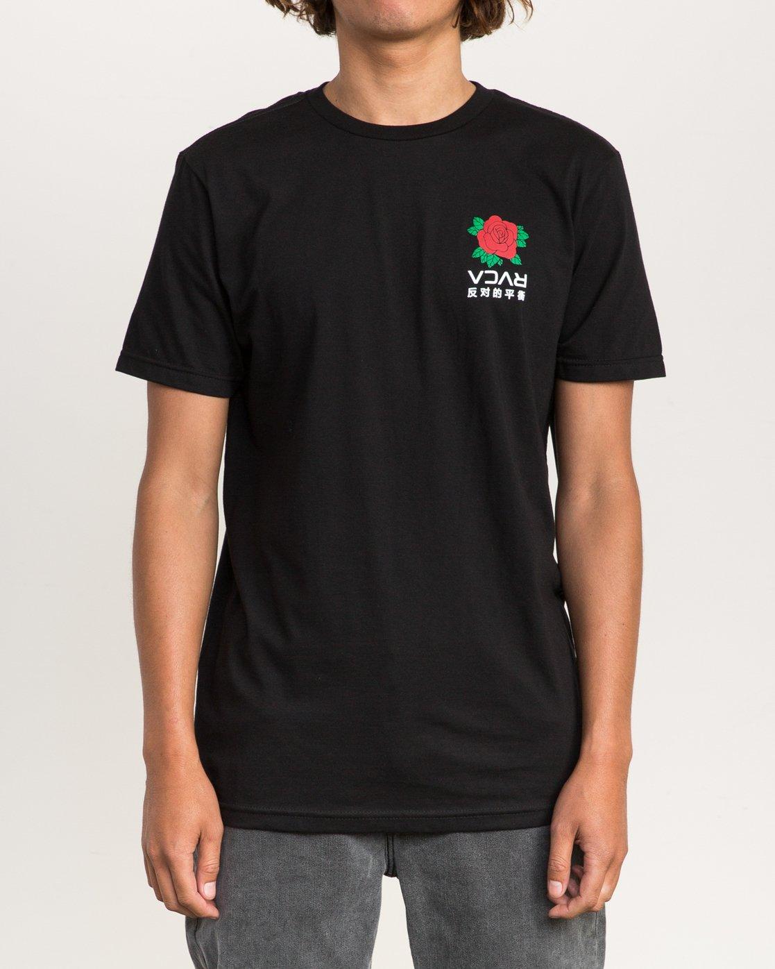 2 Roze T-Shirt Black M401PRRT RVCA
