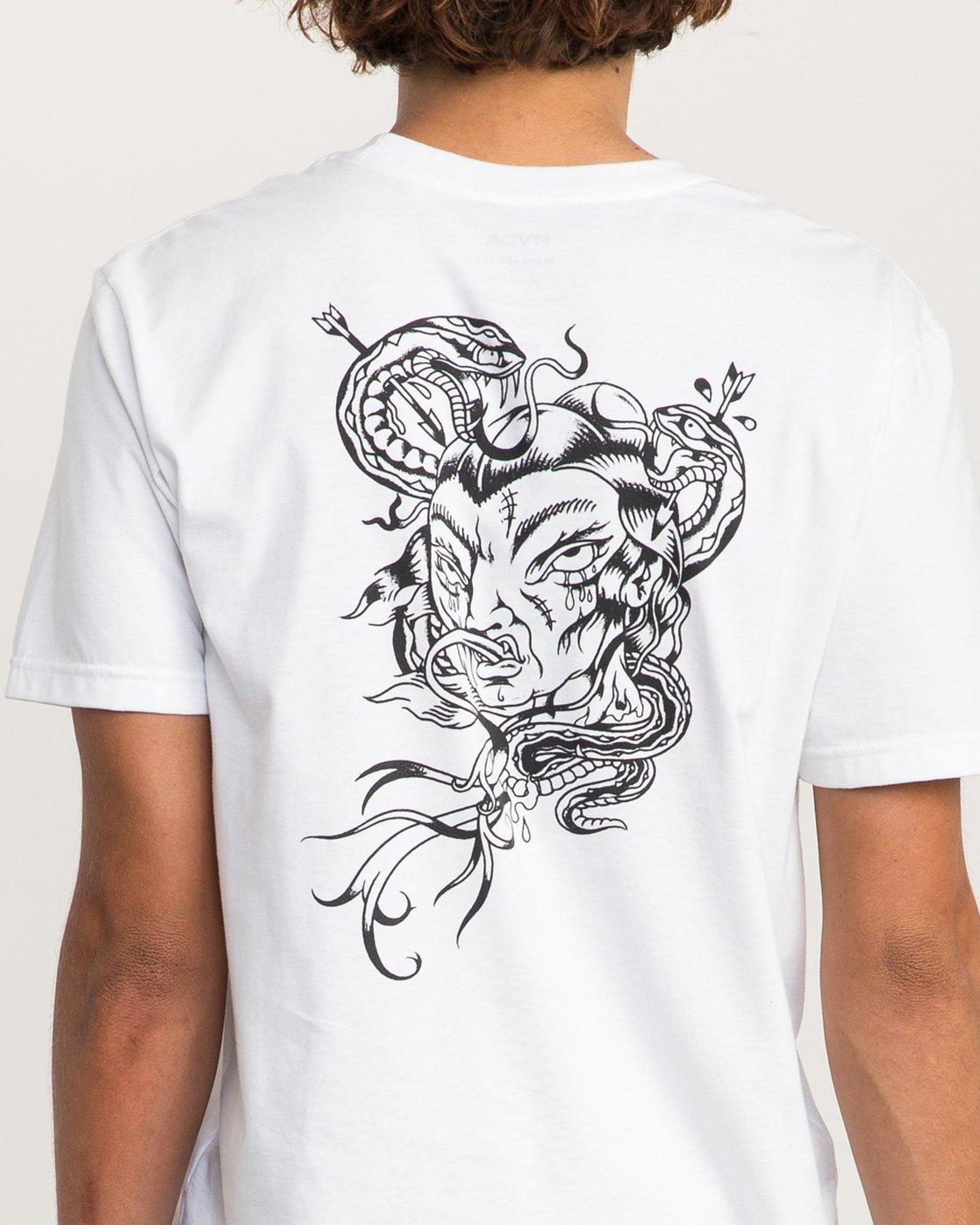 5 Dmote Serpentine T-Shirt  M401PRST RVCA
