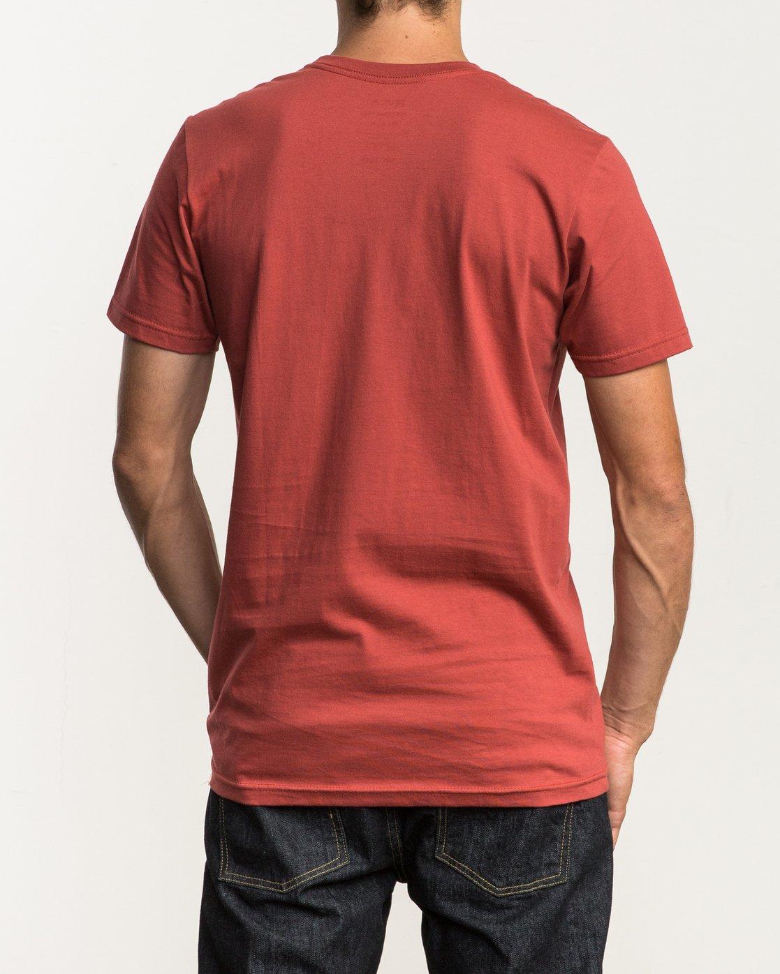 3 Big RVCA T-Shirt Red M401SRBI RVCA