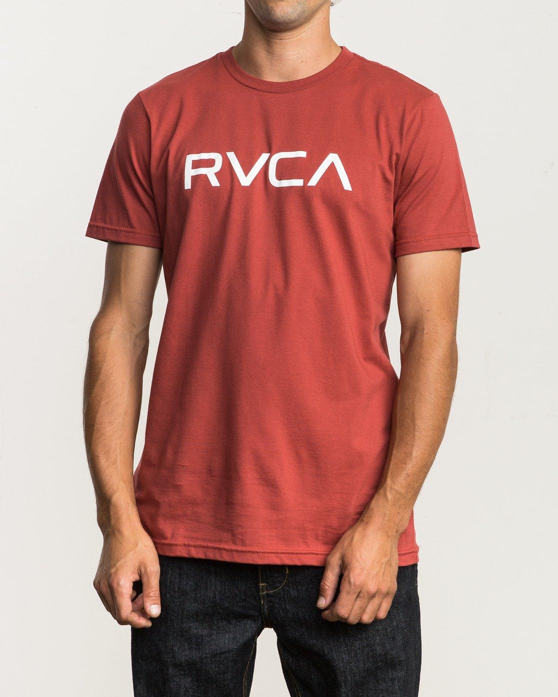 1 Big RVCA T-Shirt Red M401SRBI RVCA