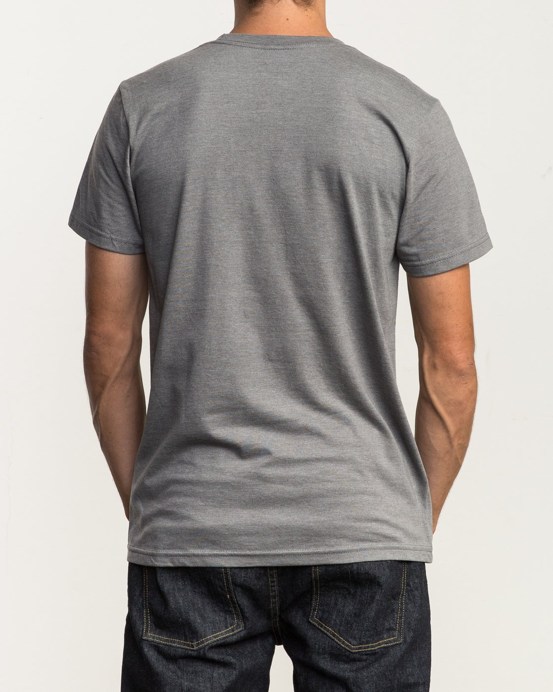 3 Big RVCA T-Shirt Grey M401SRBI RVCA