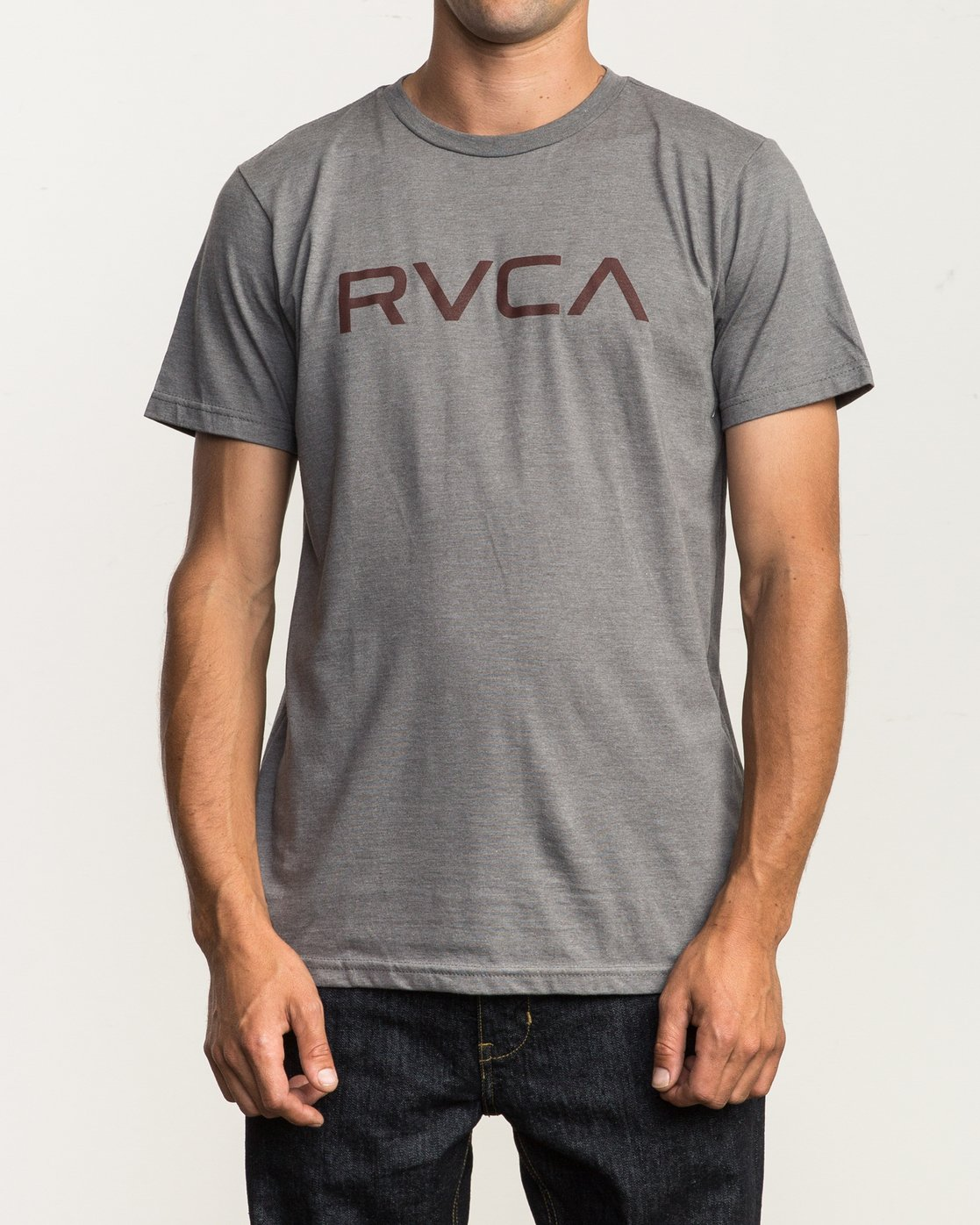 1 Big RVCA T-Shirt Grey M401SRBI RVCA