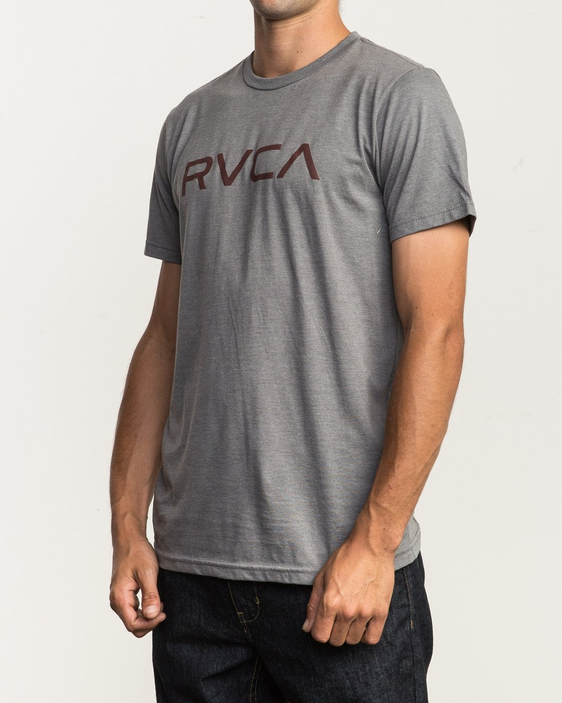 2 Big RVCA T-Shirt Grey M401SRBI RVCA