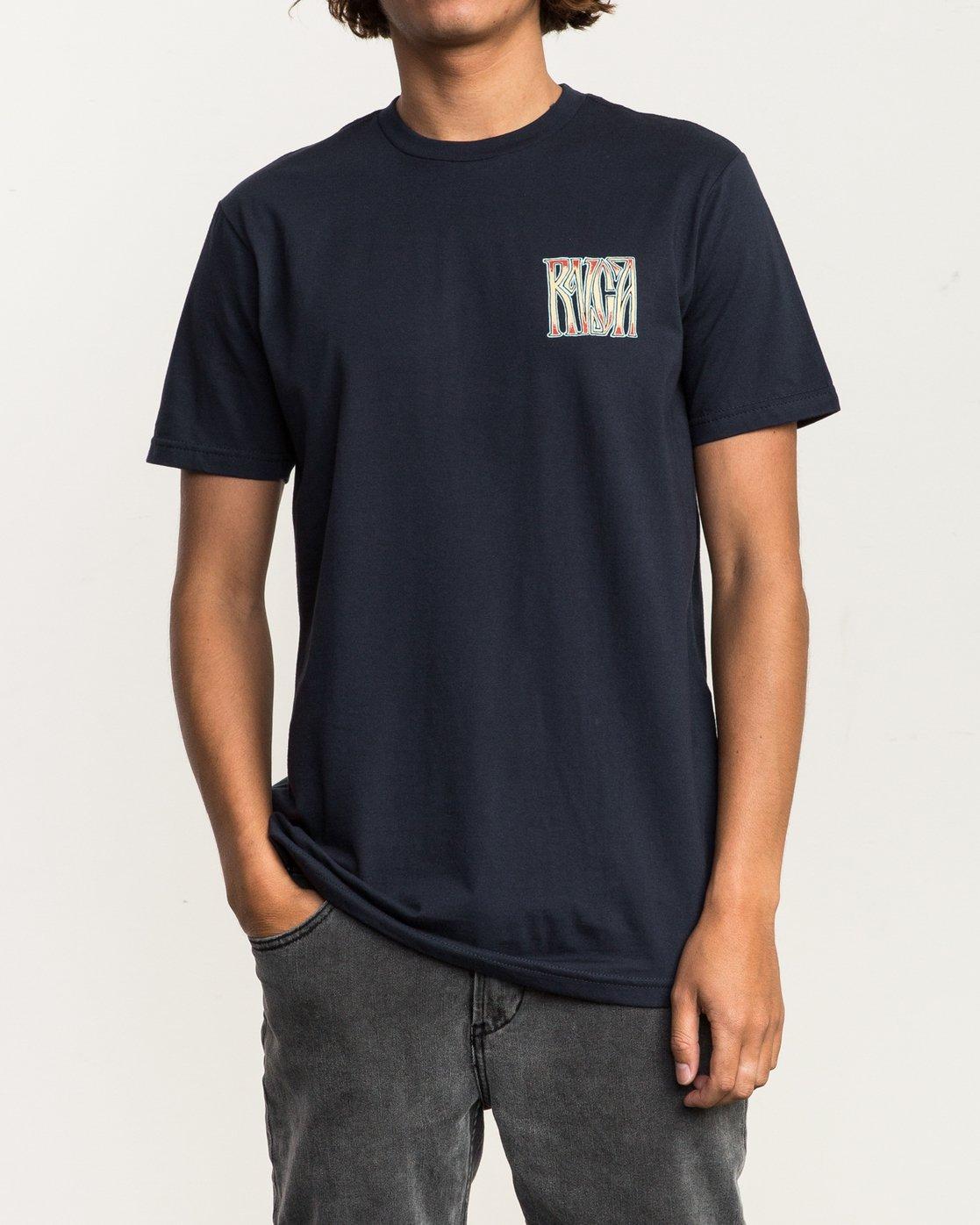 2 Gretta T-Shirt Blue M401SRGR RVCA