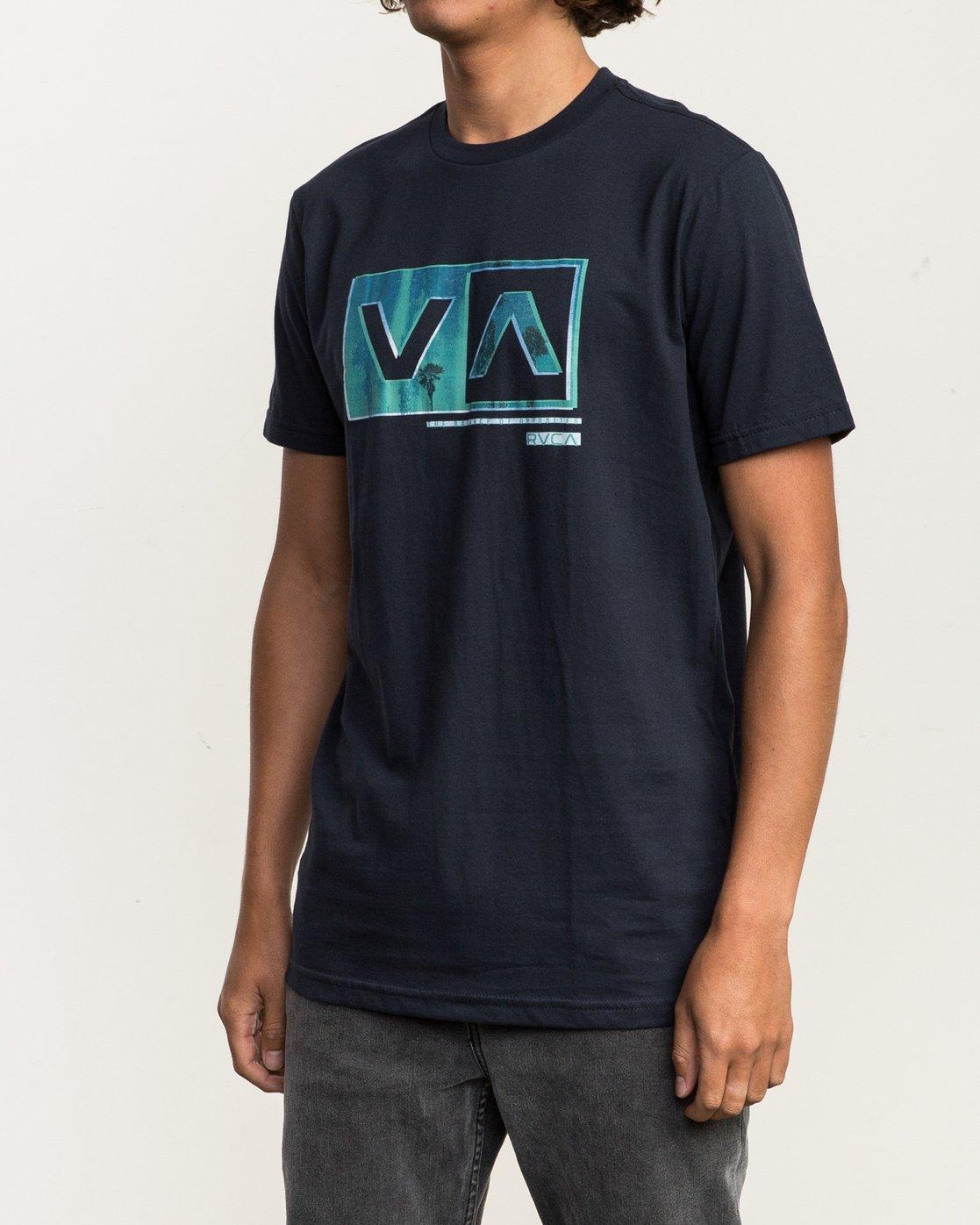 2 Riso Box T-Shirt Blue M401SRRI RVCA